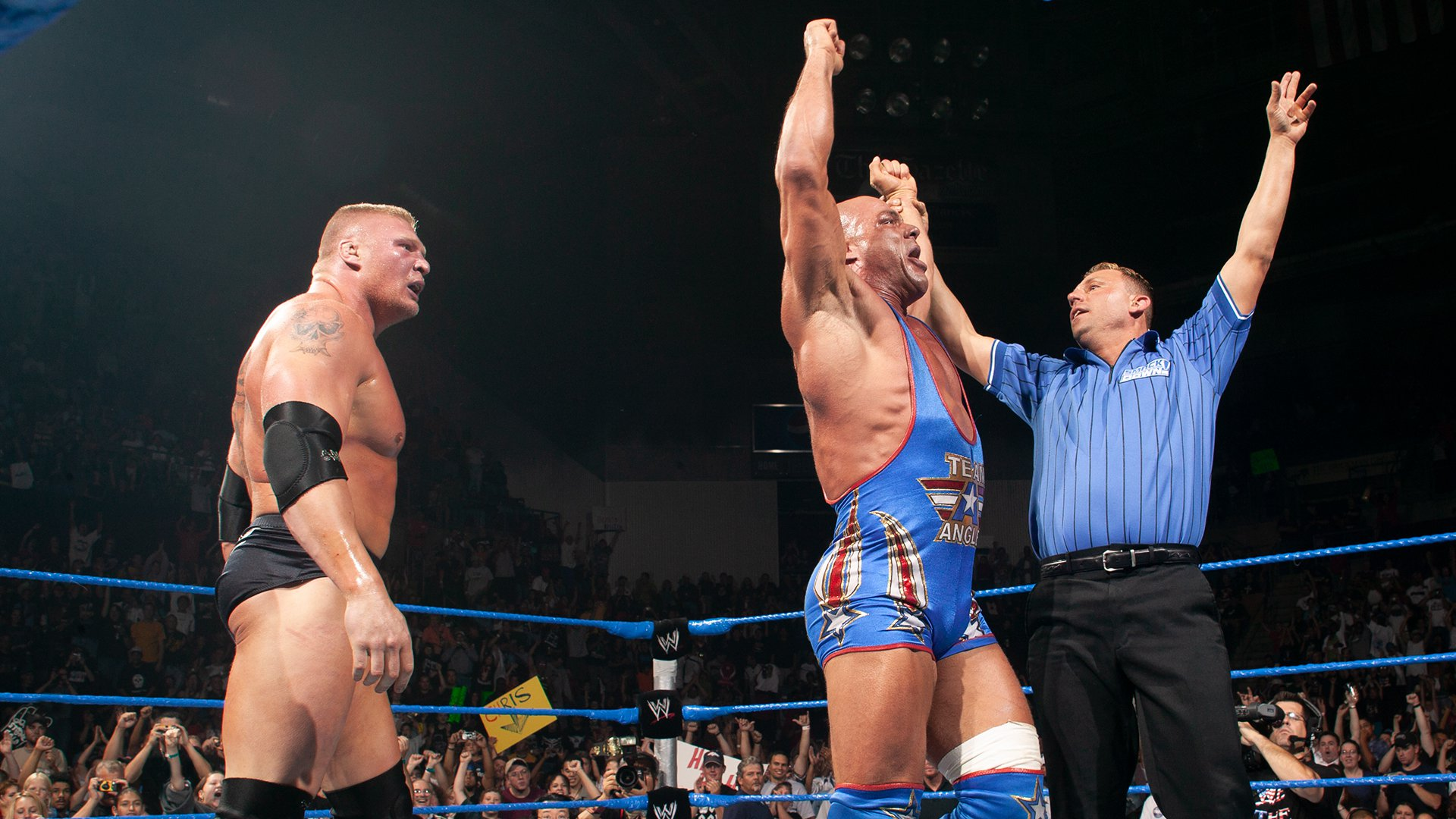 Kurt Angle & Brock Lesnar vs. Big Show & A-Train: SmackDown, 31 Juillet 2003