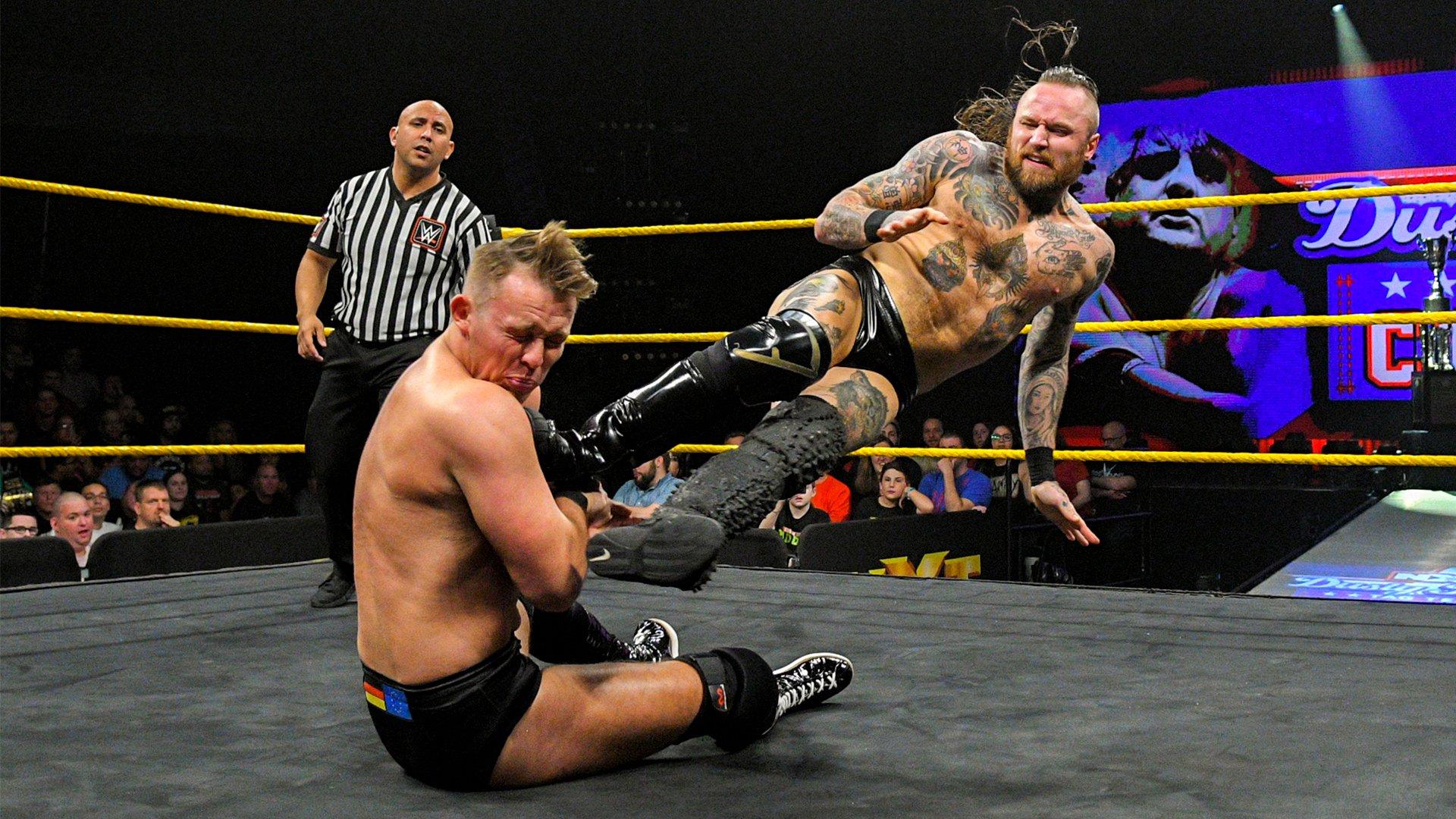 Ricochet & Aleister Black vs. Marcel Barthel & Fabian Aichner: Premier Tour du Dusty Rhodes Tag Team Classic First-Round: WWE NXT, 6 Mars 2019