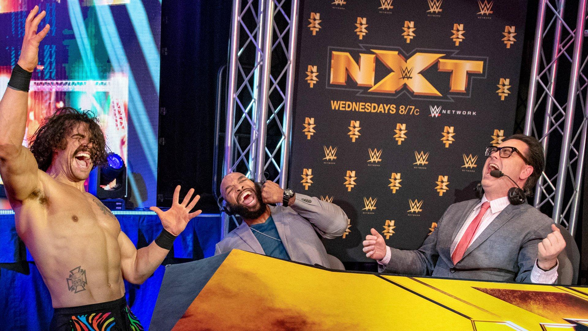 Eric Bugenhagen fait le show avec les commentateurs NXT: Exclusivité WWE.fr, 6 Mars 2019