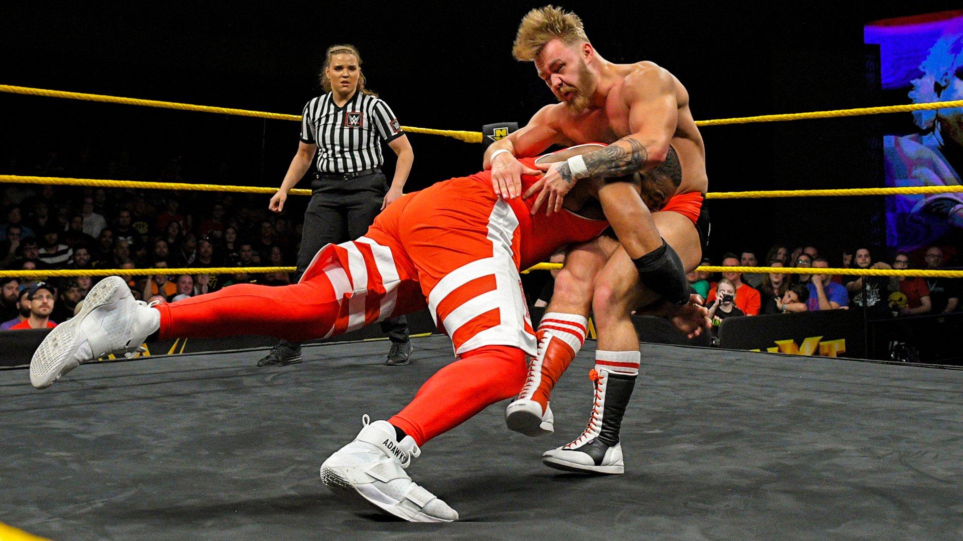 Moustache Mountain vs. Street Profits: Premier Tour du Dusty Rhodes Tag Team Classic First-Round: WWE NXT, 6 Mars 2019