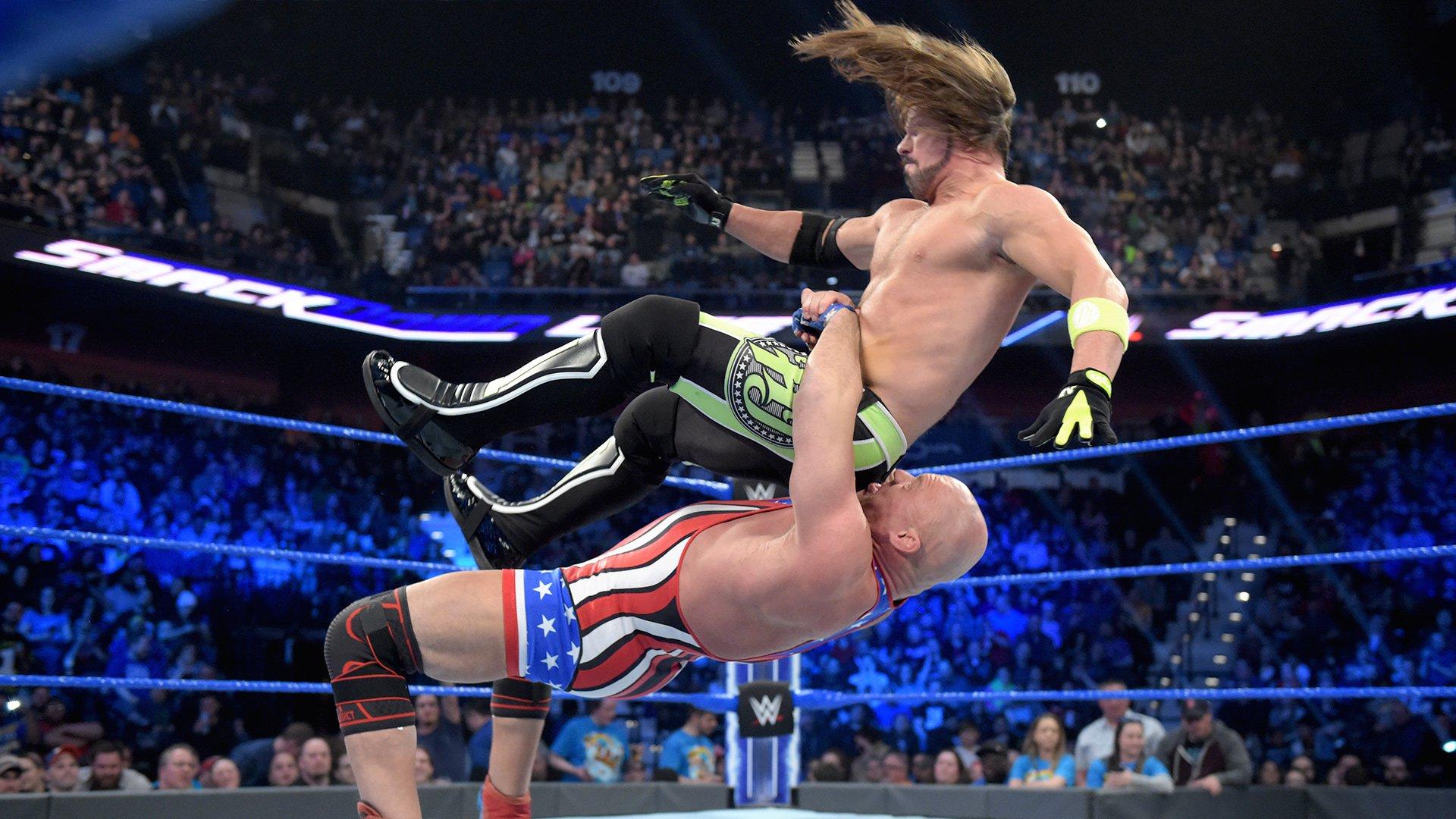 Kurt Angle vs. AJ Styles: SmackDown LIVE, 26 Mars 2019