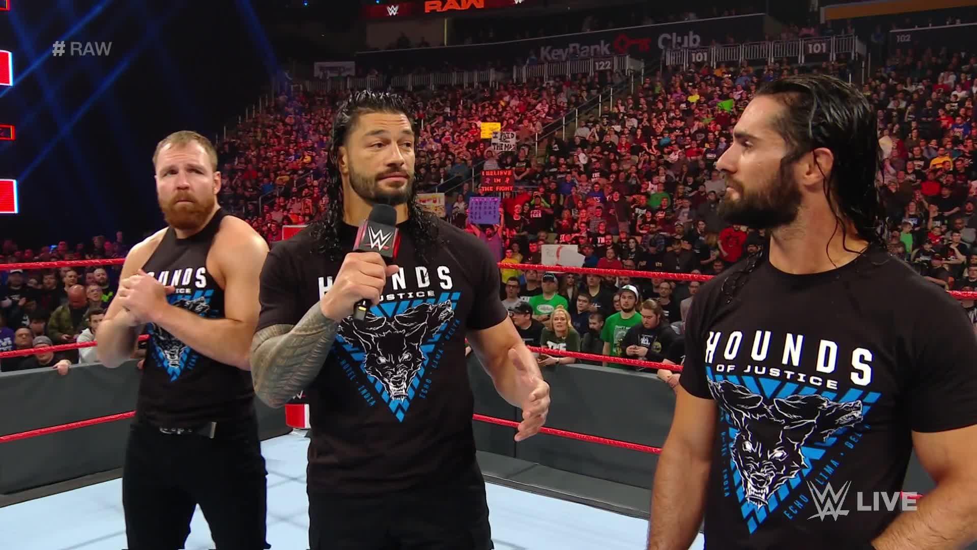 The Shield délivrent un message d'adieu: Raw, 11 Mars 2019