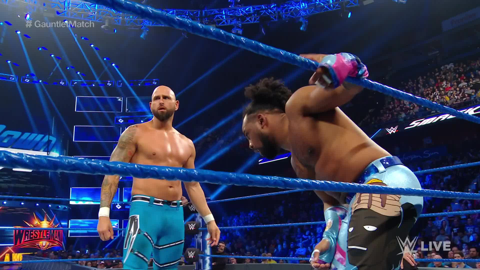 The New Day vs. Gallows & Anderson - Match Gauntlet Partie 1: SmackDown LIVE, 26 Mars 2019