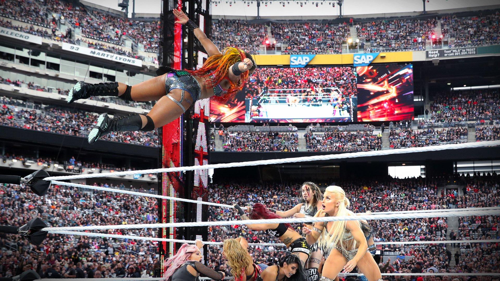 Ember Moon furieuse dans la Bataille Royale des Femmes: Kickoff WrestleMania 35