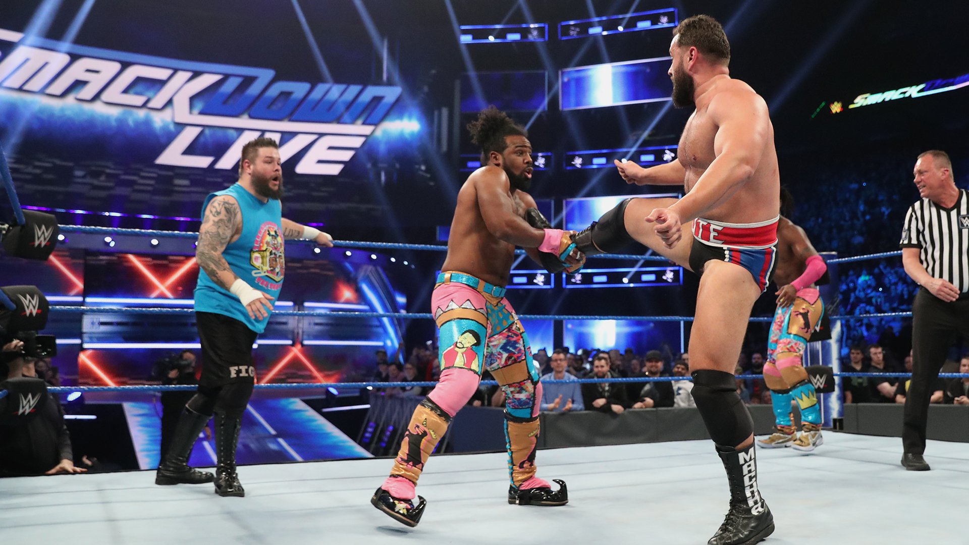 Kevin Owens & The New Day vs. Cesaro, Shinsuke Nakamura & Rusev: SmackDown LIVE, 16 Avril 2019