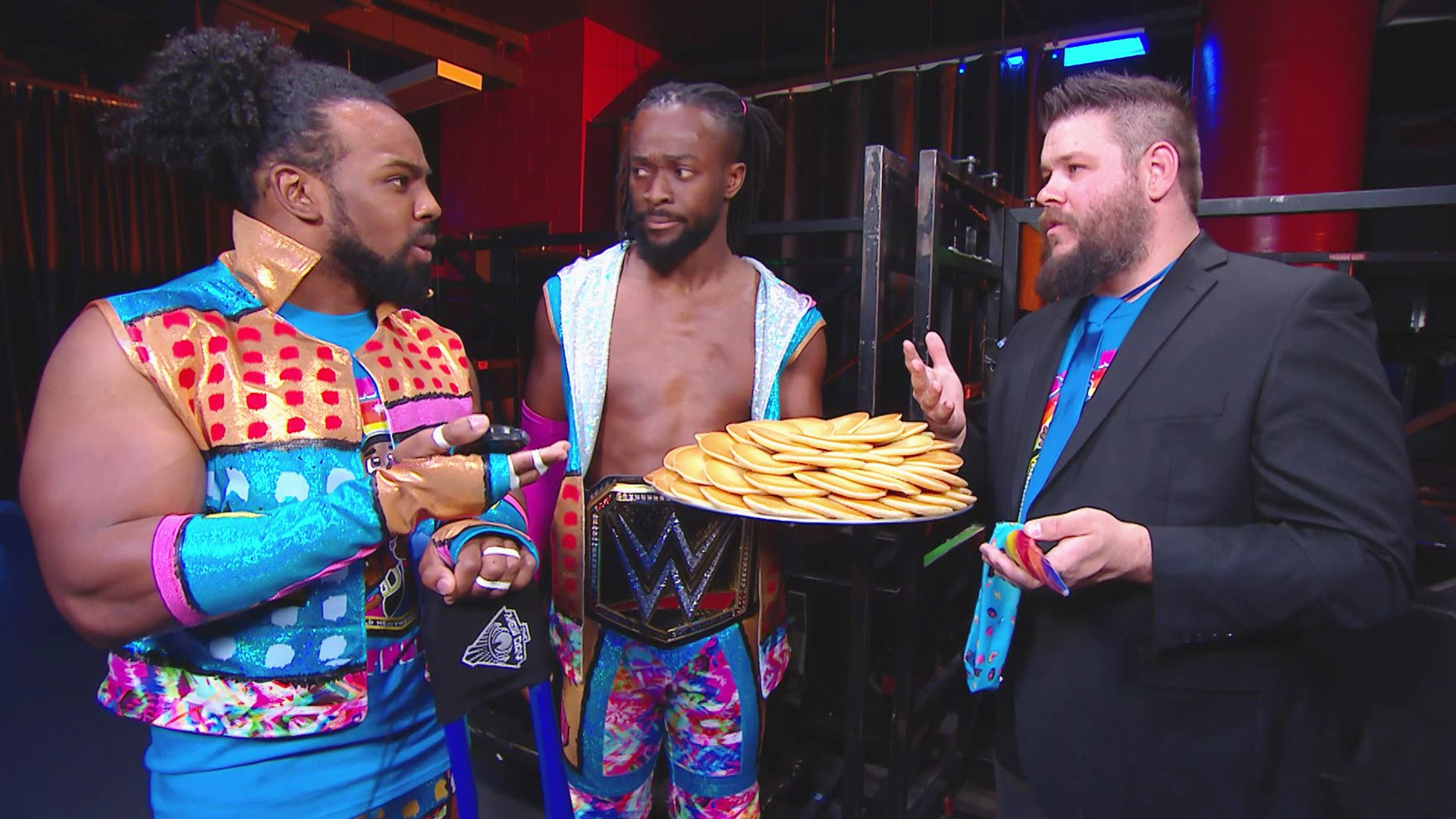 "The New Day teste Kevin Owens avec un ""pancake eating challenge"": SmackDown LIVE, 16 Avril 2019"