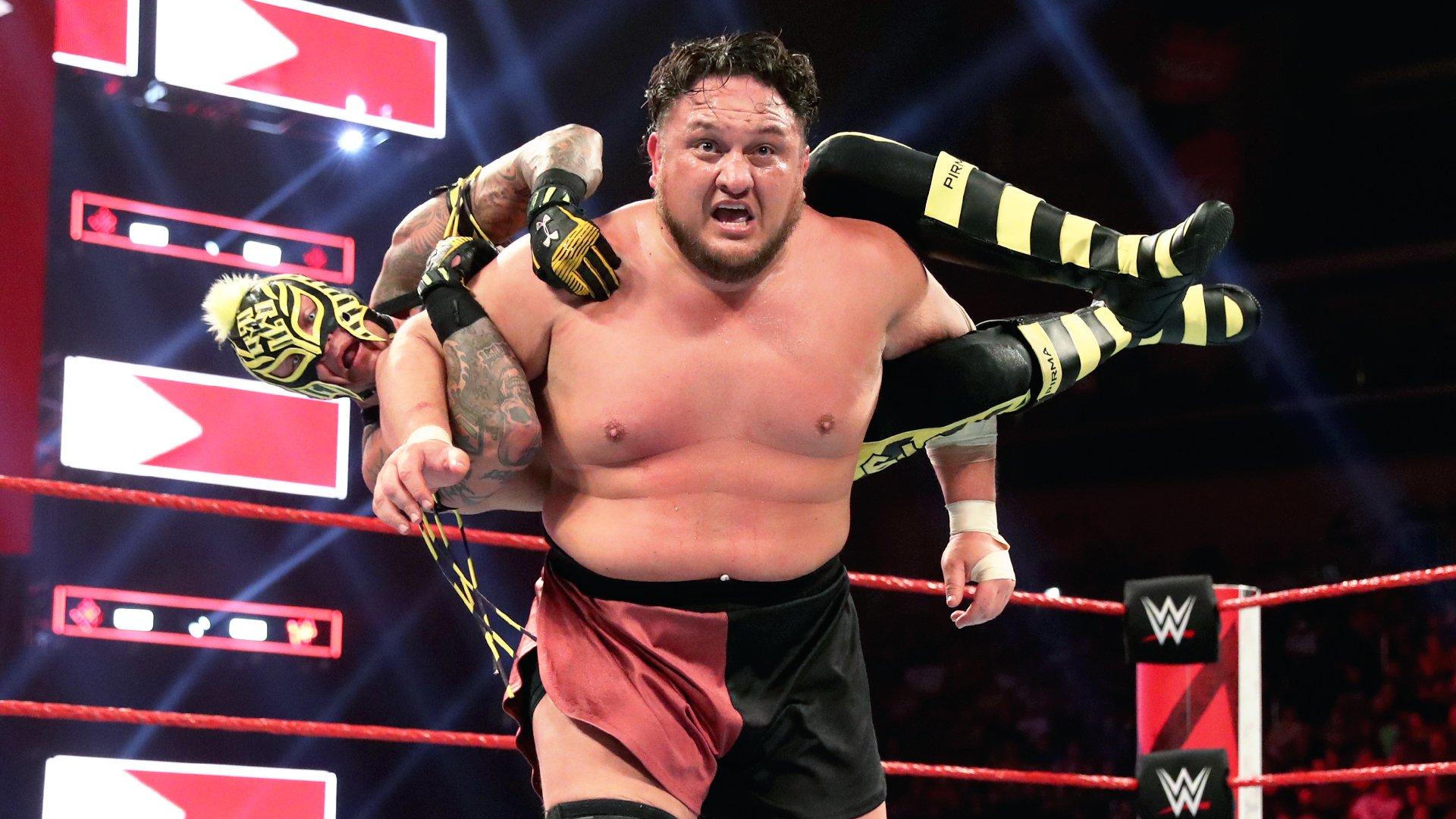 AJ Styles vs. Rey Mysterio vs. Samoa Joe: Raw, 22 Avril 2019