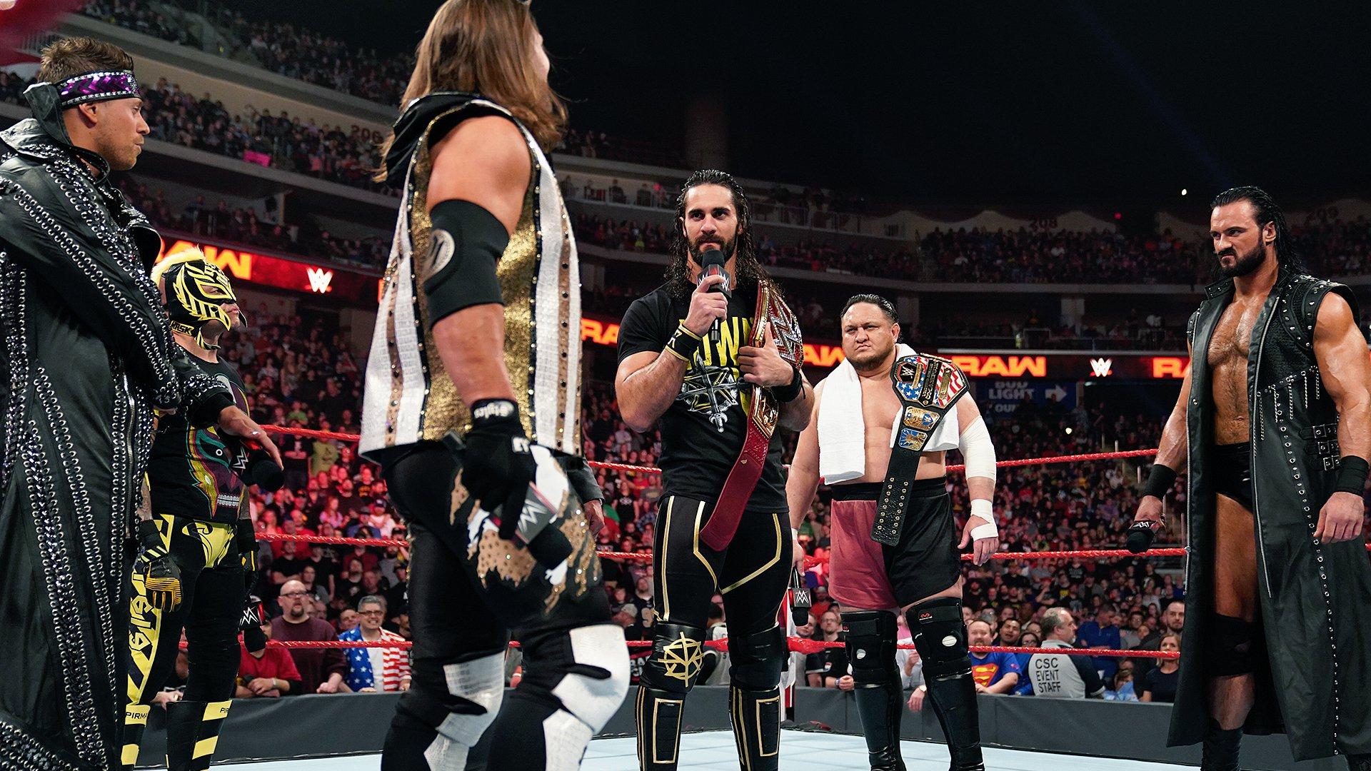 6 Superstars veulent le Titre Universel de Seth Rollins: Raw, 22 Avril 2019