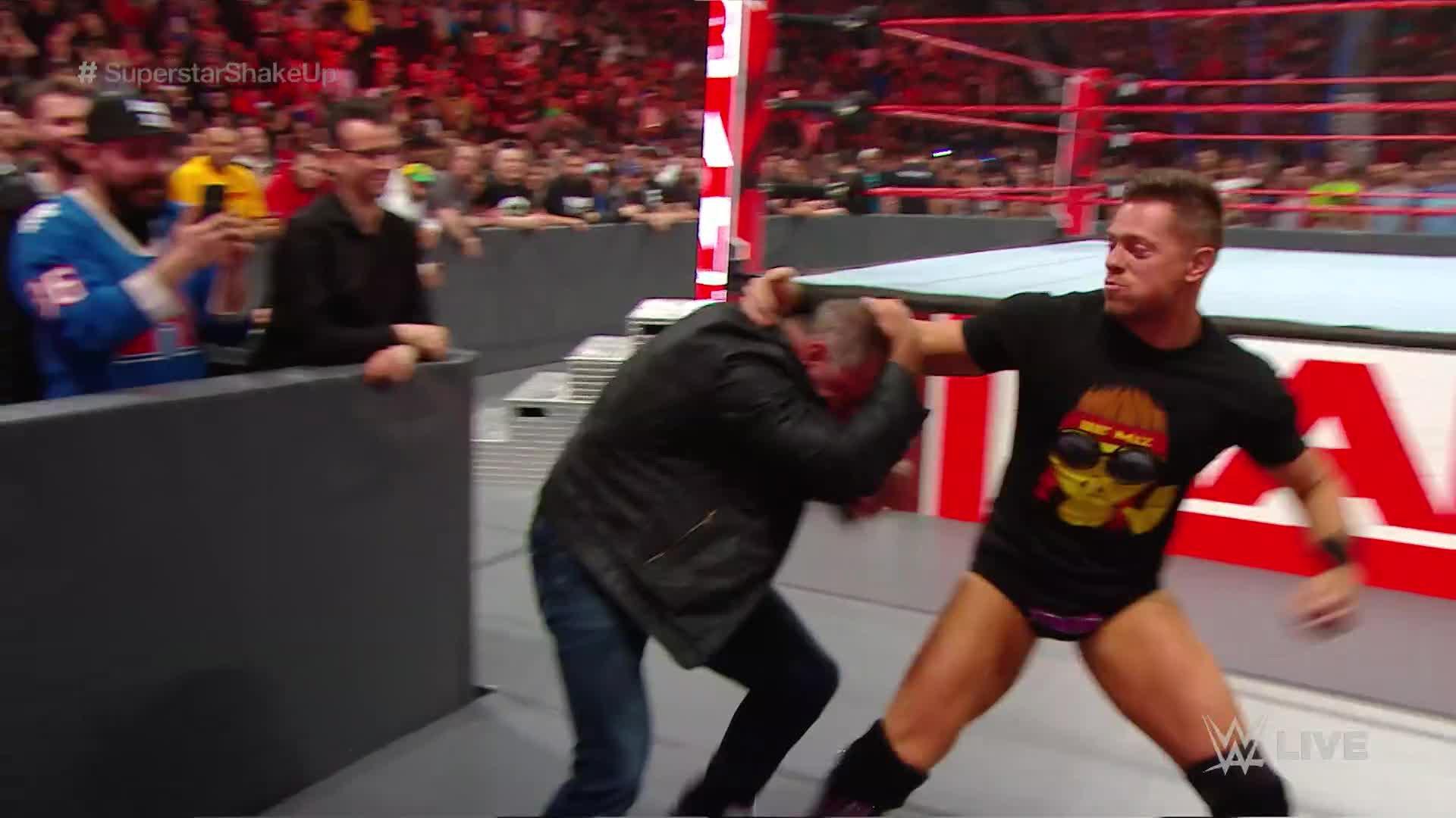 The Miz a sa vengeance de WrestleMania contre Shane McMahon: Raw, 15 Avril 2019