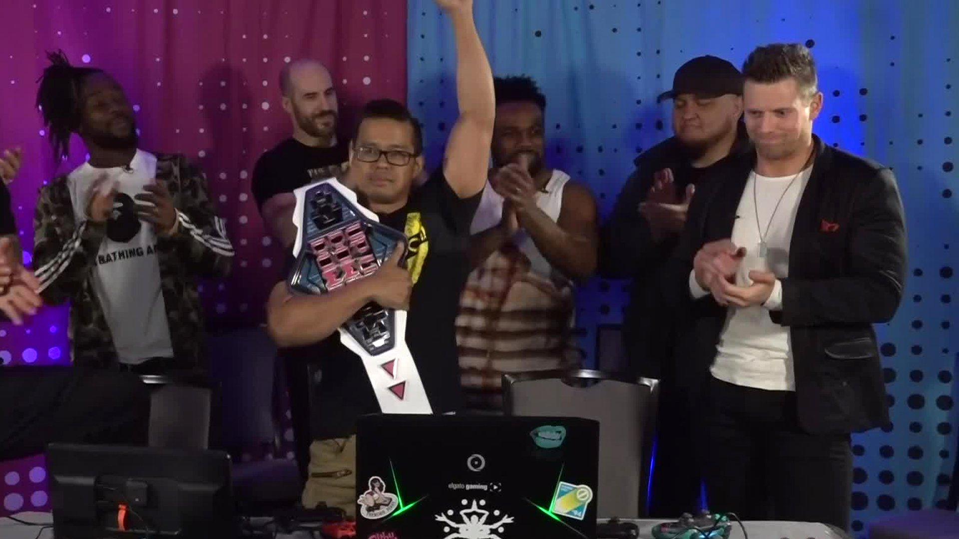 Mikaze remporte le Titre UpUpDownDown, survivant au défi du Miz
