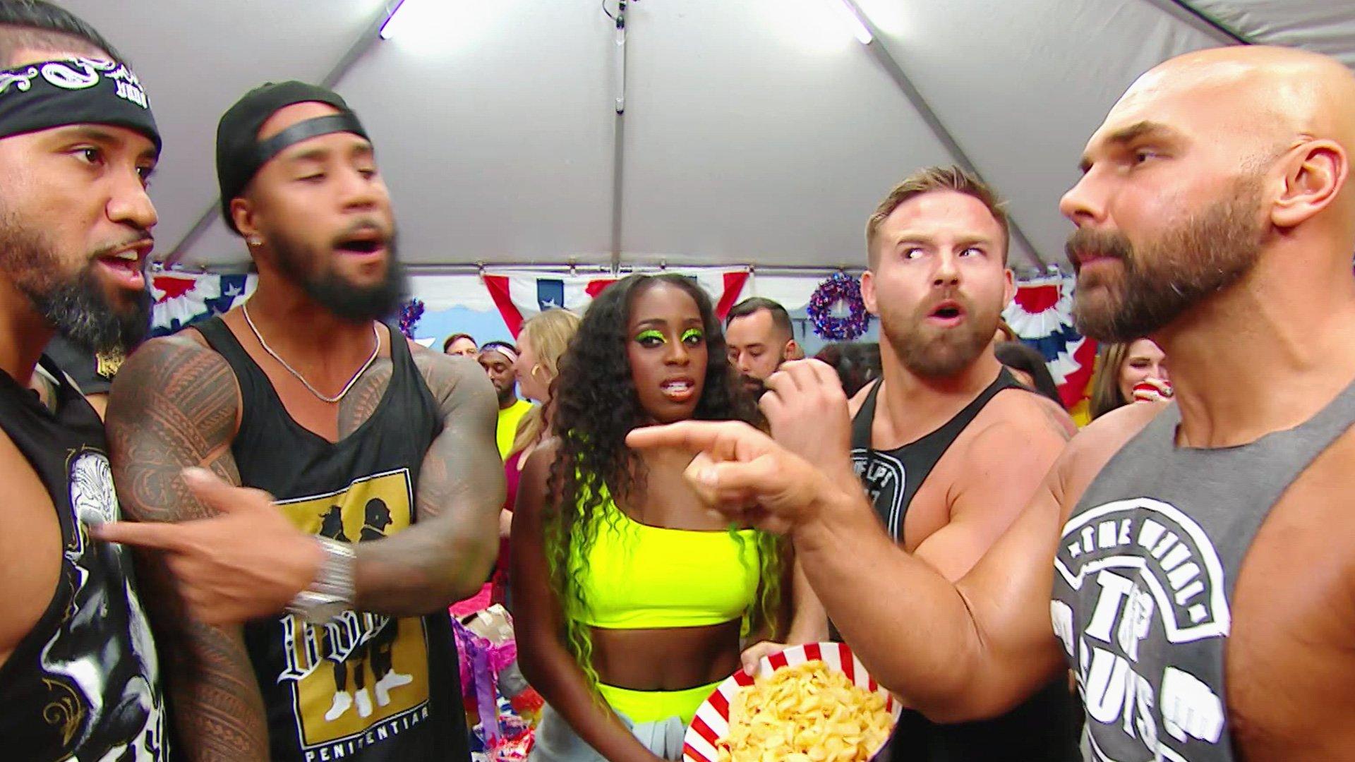 The Revival viennent à la block party du Memorial Day organisée par The Usos: Raw, 27 Mai 2019