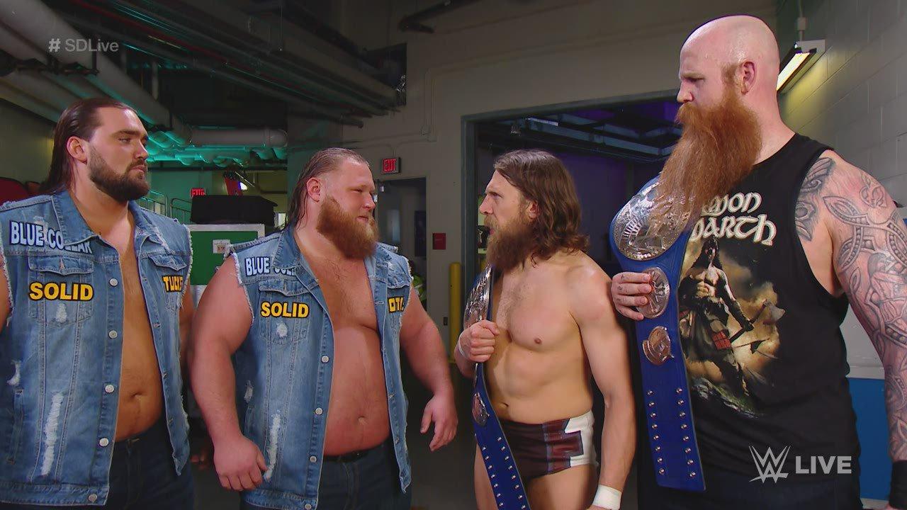 Heavy Machinery visent les titres de Daniel Bryan & Rowan: SmackDown LIVE, 7 Mai 2019