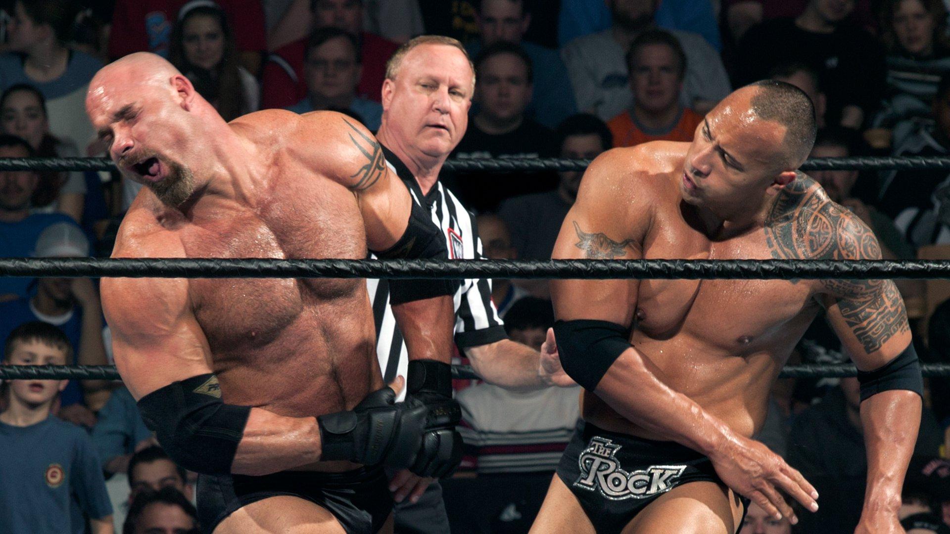 Image result for WWE Backlash 2003 Goldberg vs The Rock