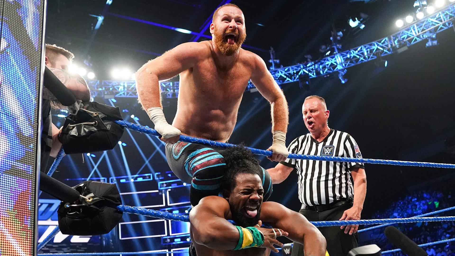 The New Day vs. Kevin Owens & Sami Zayn: SmackDown LIVE, 4 Juin 2019