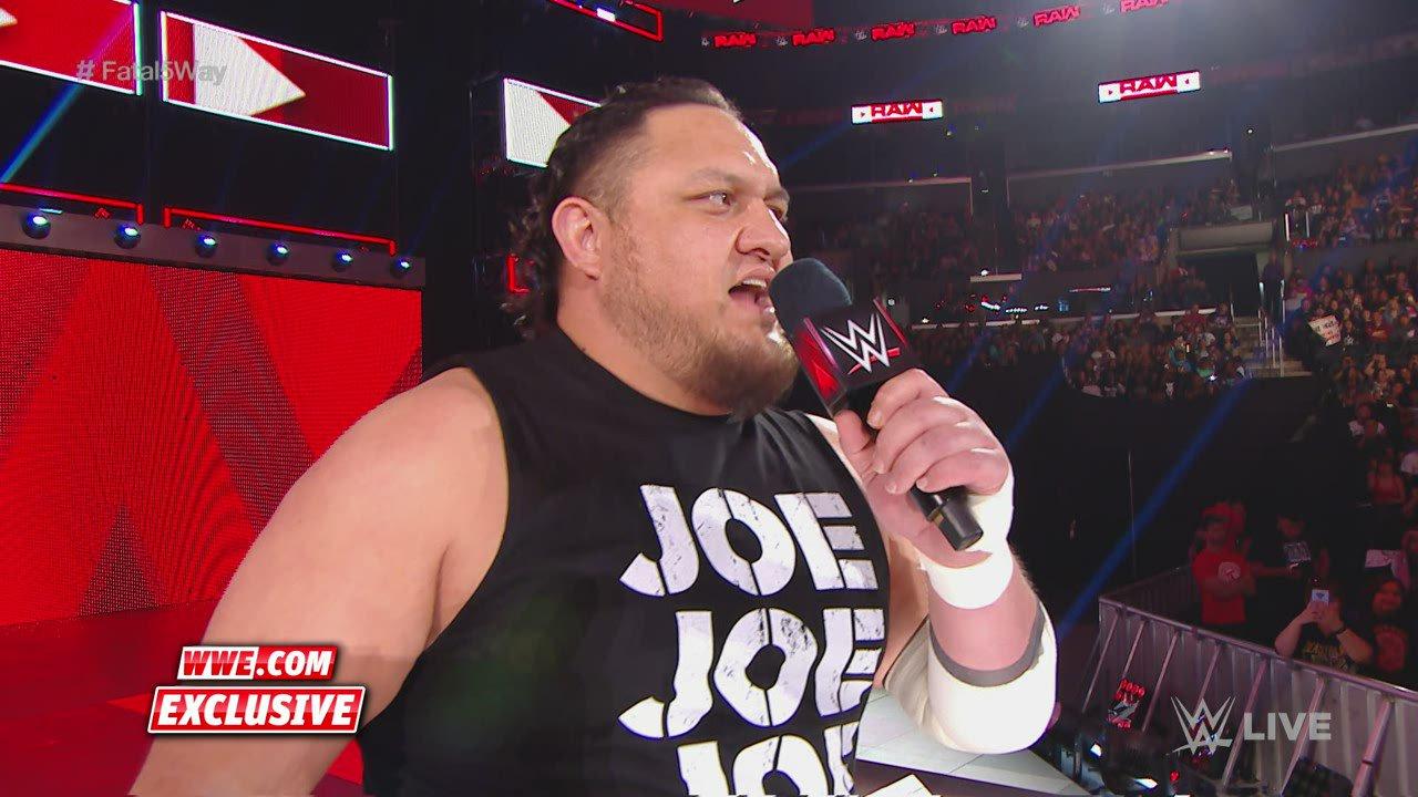 Samoa Joe parle de ses cinq challengers potentiels: Exclusivité WWE.fr, 17 Juin 2019