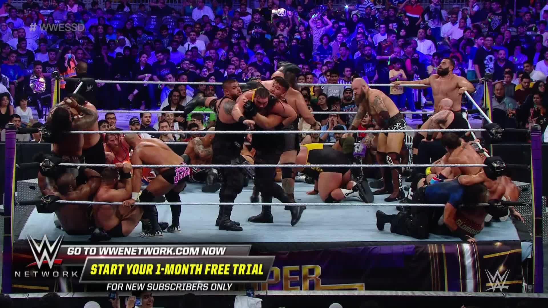 Viking Raiders, Heavy Machinery & AOP s'arrachent dans la Bataille Royale: Super ShowDown '19