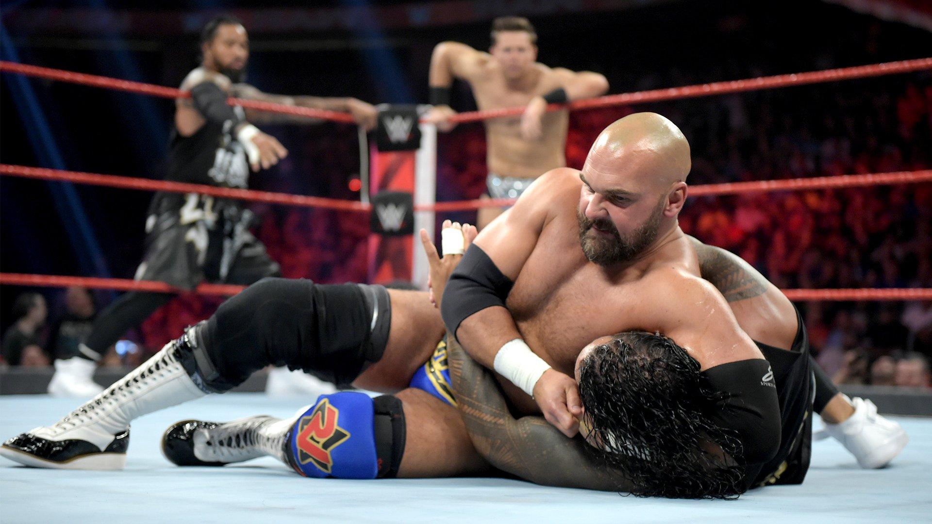 The Miz & The Usos vs. Elias & The Revival – Match par Équipes au Meilleur des Trois Manches: Raw, 8 Juillet 2019