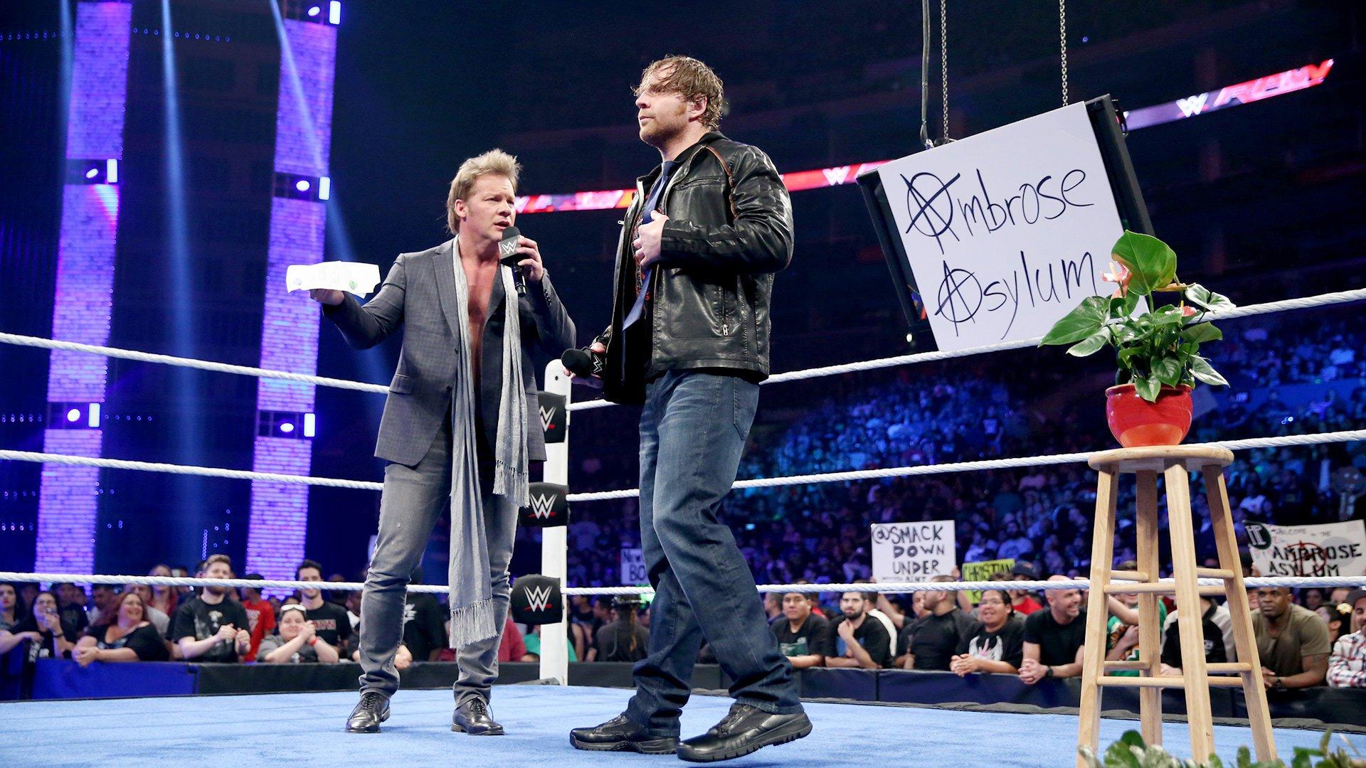 """Pour Shane McMahon, """"The Highlight Reel"""" de Chris Jericho est annulé et remplacé par """"The Ambrose Asylum"""": Raw, 11 avril 2016"""