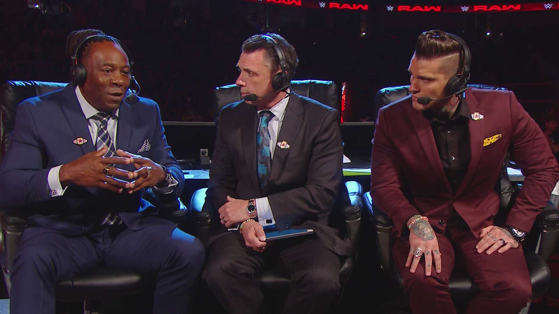 WWE Raw commentators Booker T Michael Cole