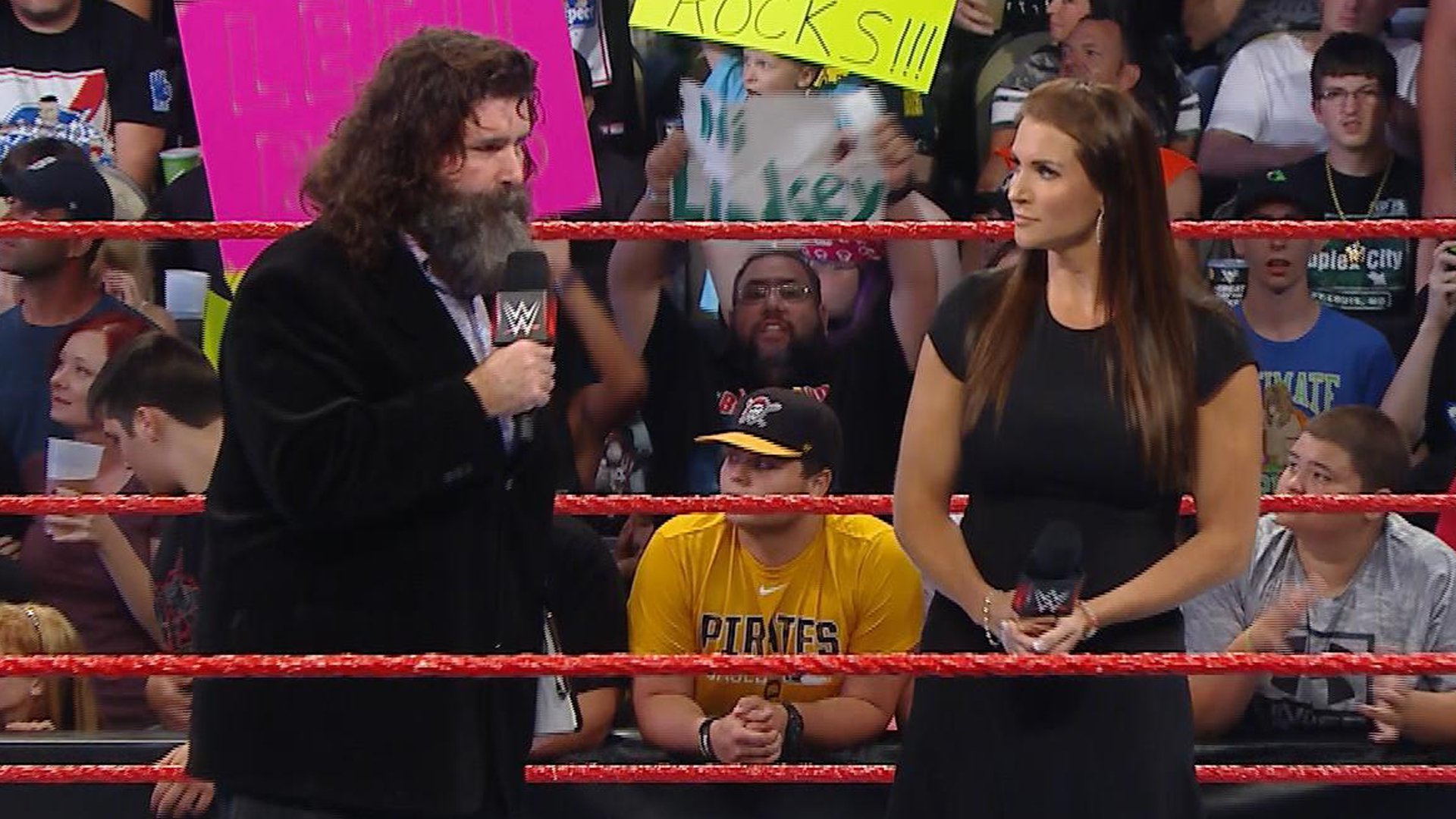 Image result for mick foley stephanie mcmahon
