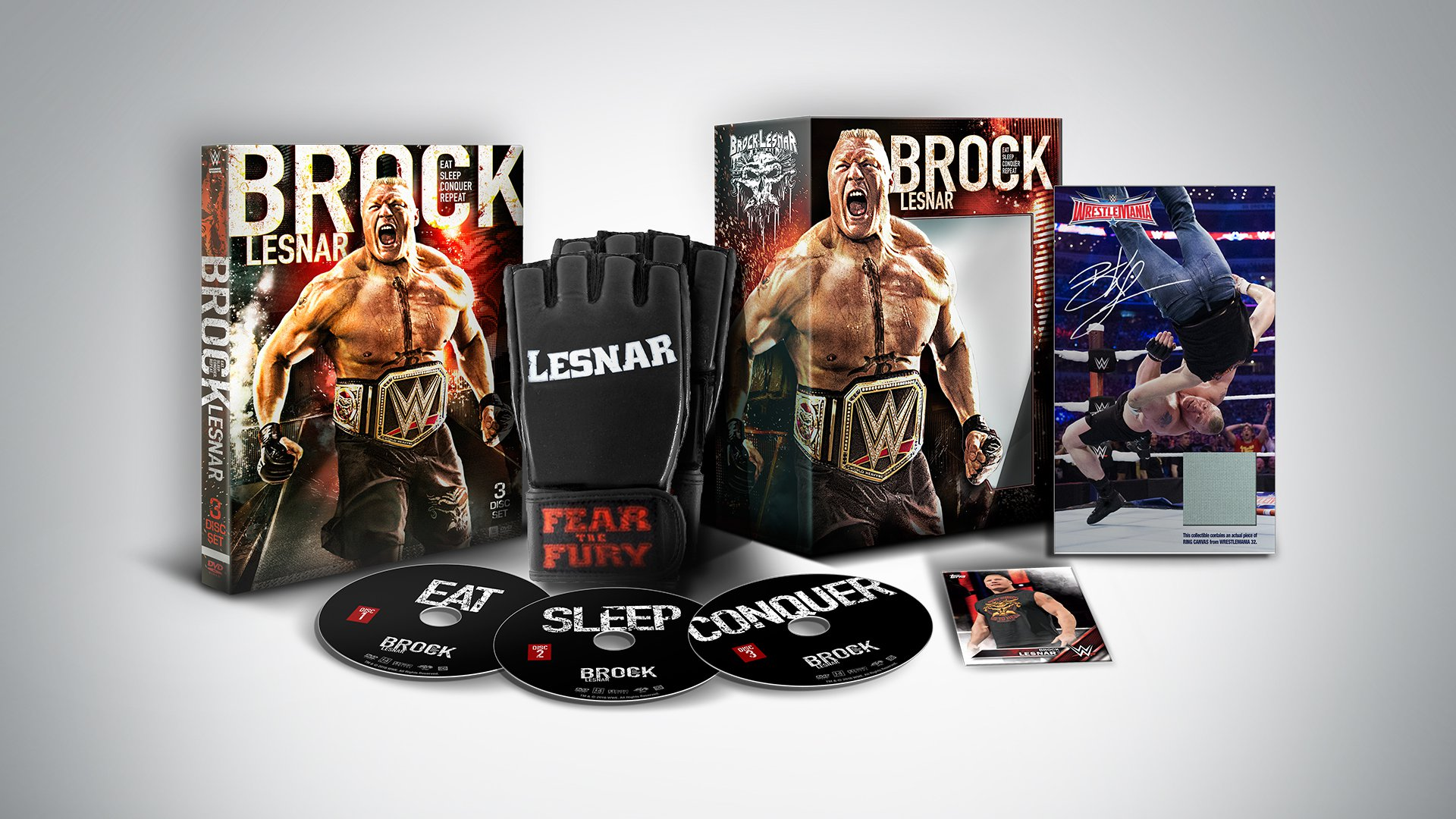 Get The Brock Lesnar Eat Sleep Conquer Repeat Blu Ray DVD Collectors Set Oct 11