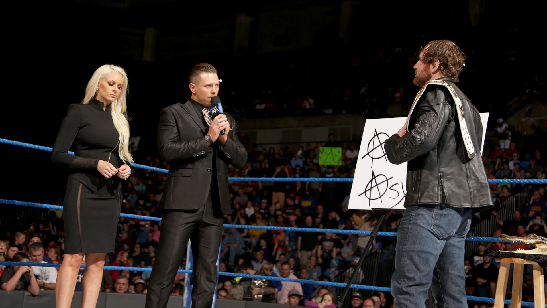 "The Miz and Maryse come to ""The Ambrose Asylum."""