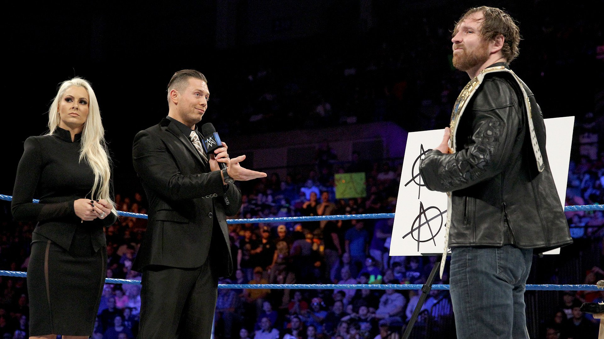 The Miz tells Ambrose to hand over the Intercontinental Championship because it's the right thing to do, since it was decided in controversial fashion the previous week.