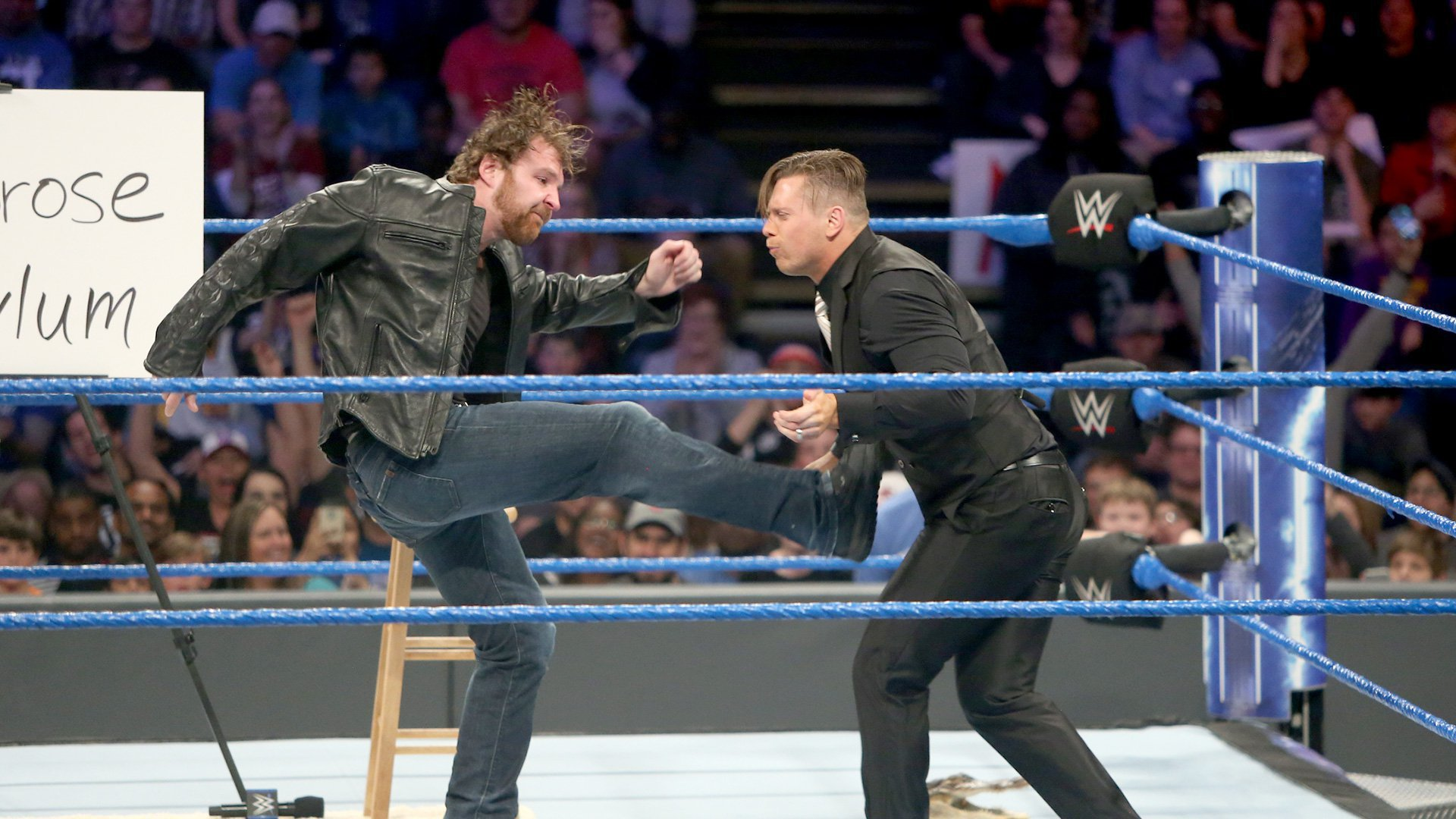 Ambrose hits Dirty Deeds.