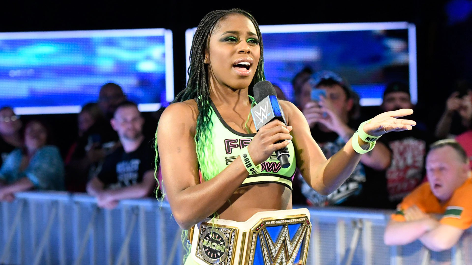 Naomi heads to the squared circle to respond to Charlotte.