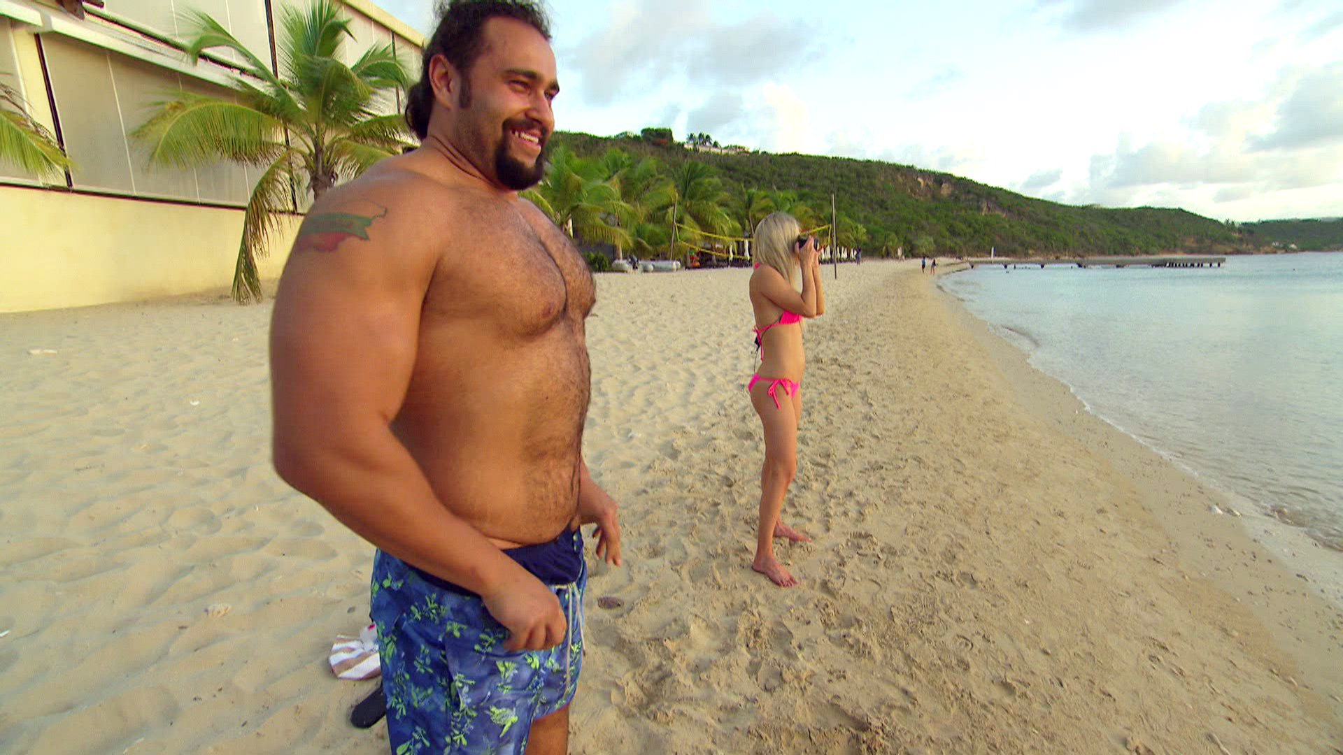 Lana, Rusev and Renee Young arrive in Anguilla for charity work, where Renee third-wheels and The Ravishing Russian takes a ton of pictures.