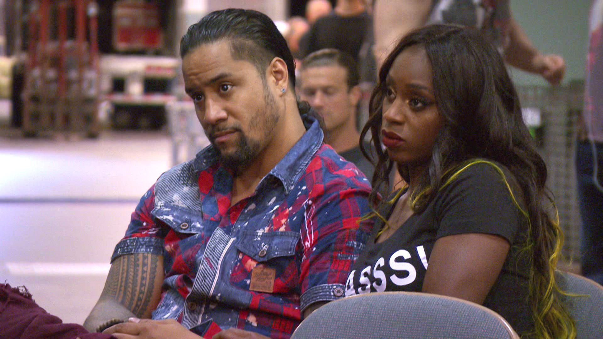 Jimmy Uso and Naomi are still sweating out the results when they wait for their numbers to be called.