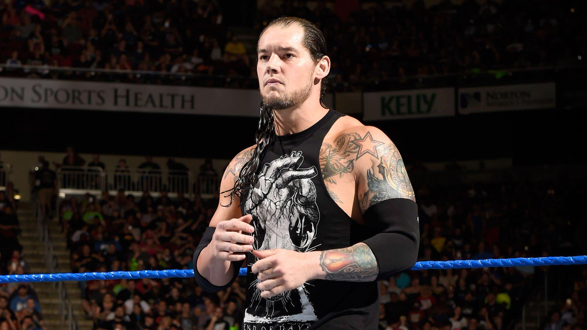 Baron Corbin prepares for his battle with AJ Styles.
