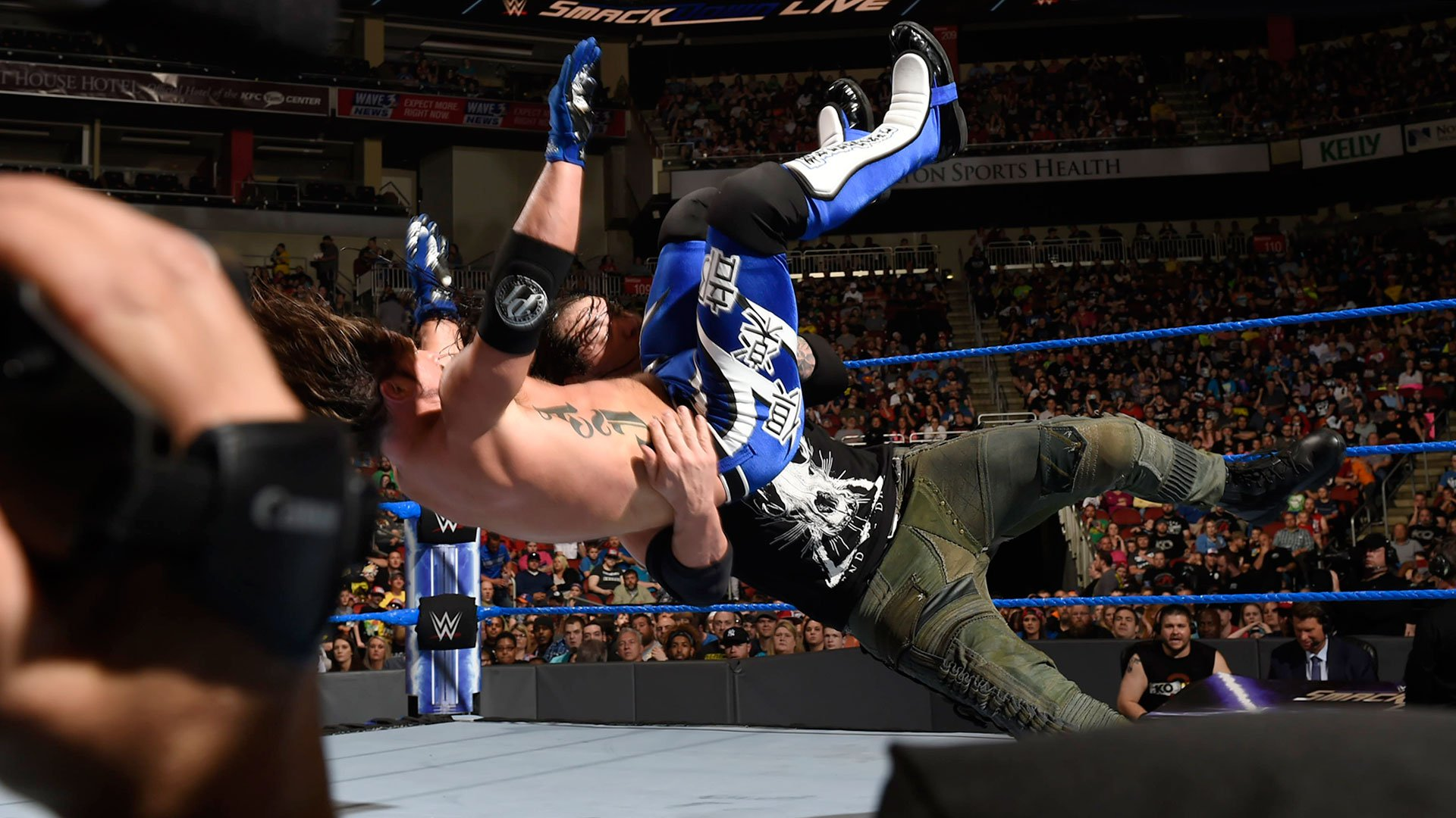 ... but The Lone Wolf strikes back with a suplex.