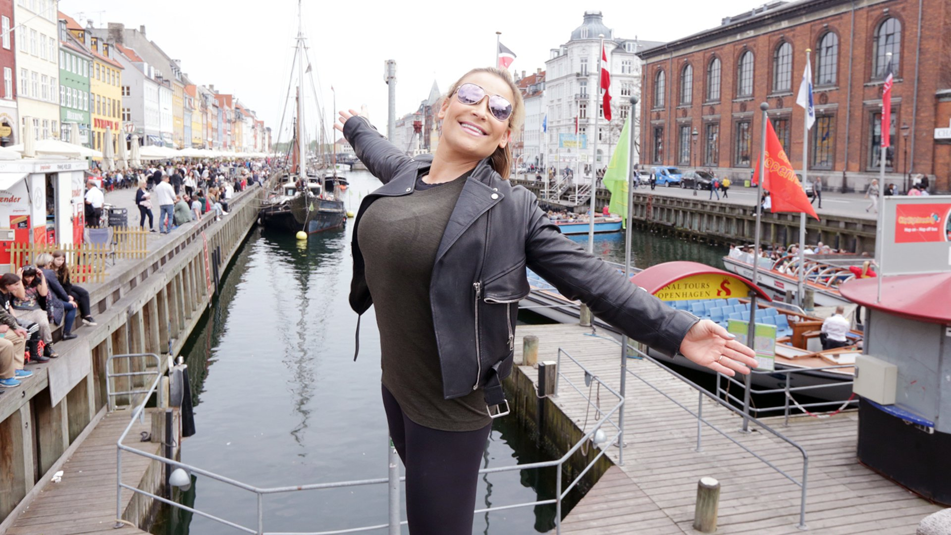 Natalya is all smiles as she takes in her surroundings in Denmark's capital.