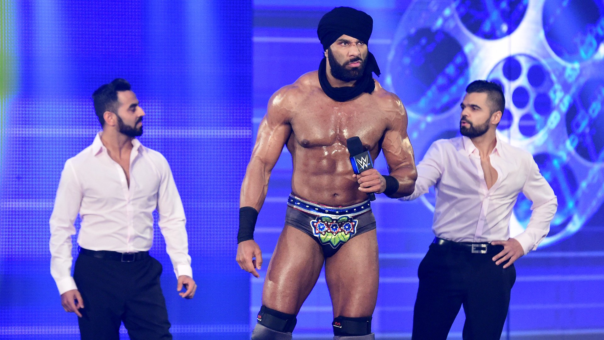Flanked by The Singh Brothers, The Maharaja promises to defeat Styles tonight and beat Randy Orton for the WWE Championship at WWE Backlash this Sunday.