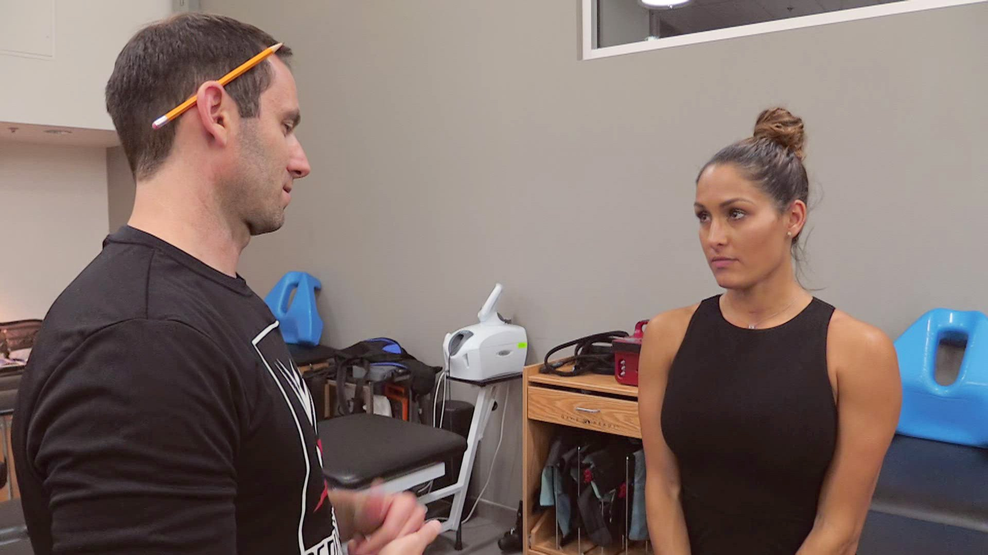 Nikki Bella is informed it's probably best if she retires the Rack Attack due to the pressure it puts on her neck.