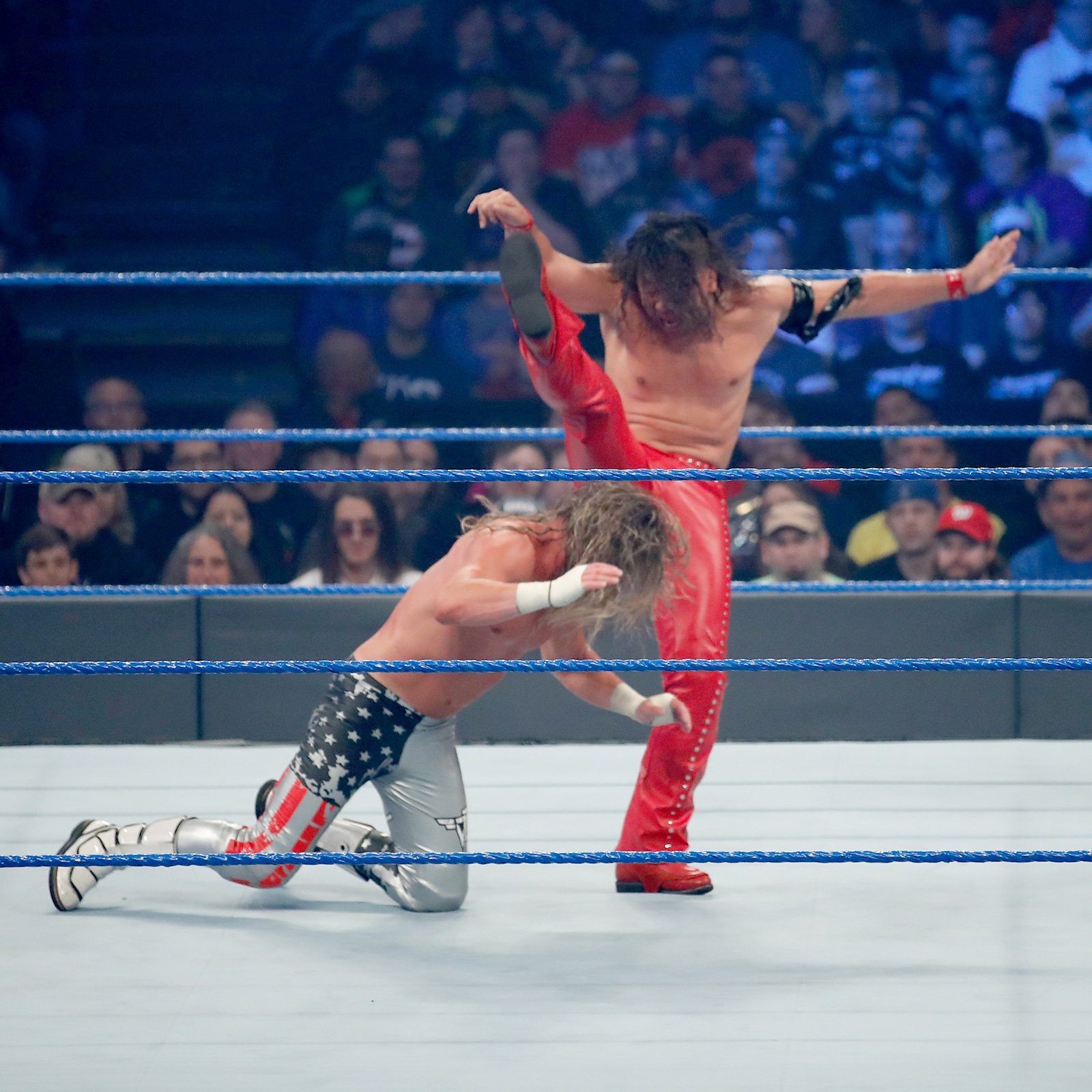 Turning the tables on The Showoff, Nakamura unleashes his world-renowned Strong Style.