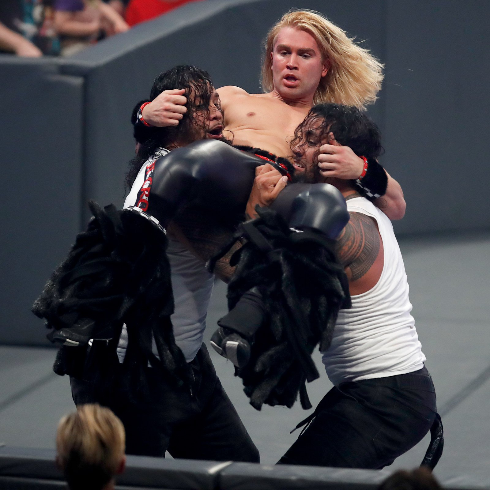 Jimmy & Jey Uso work together to take Prince Pretty out of the equation.