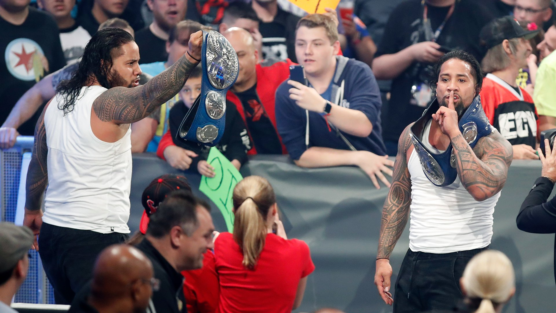 The Usos escape with a victory and retain their coveted SmackDown Tag Team Titles.