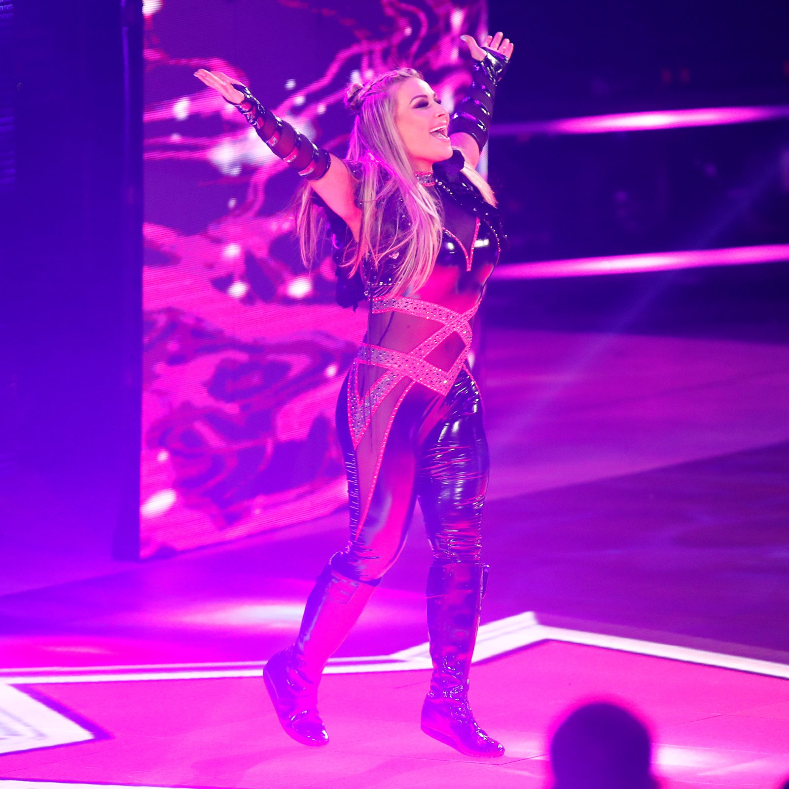 """Rounding out the """"Welcoming Committee,"""" Natalya's ready to make a statement."""