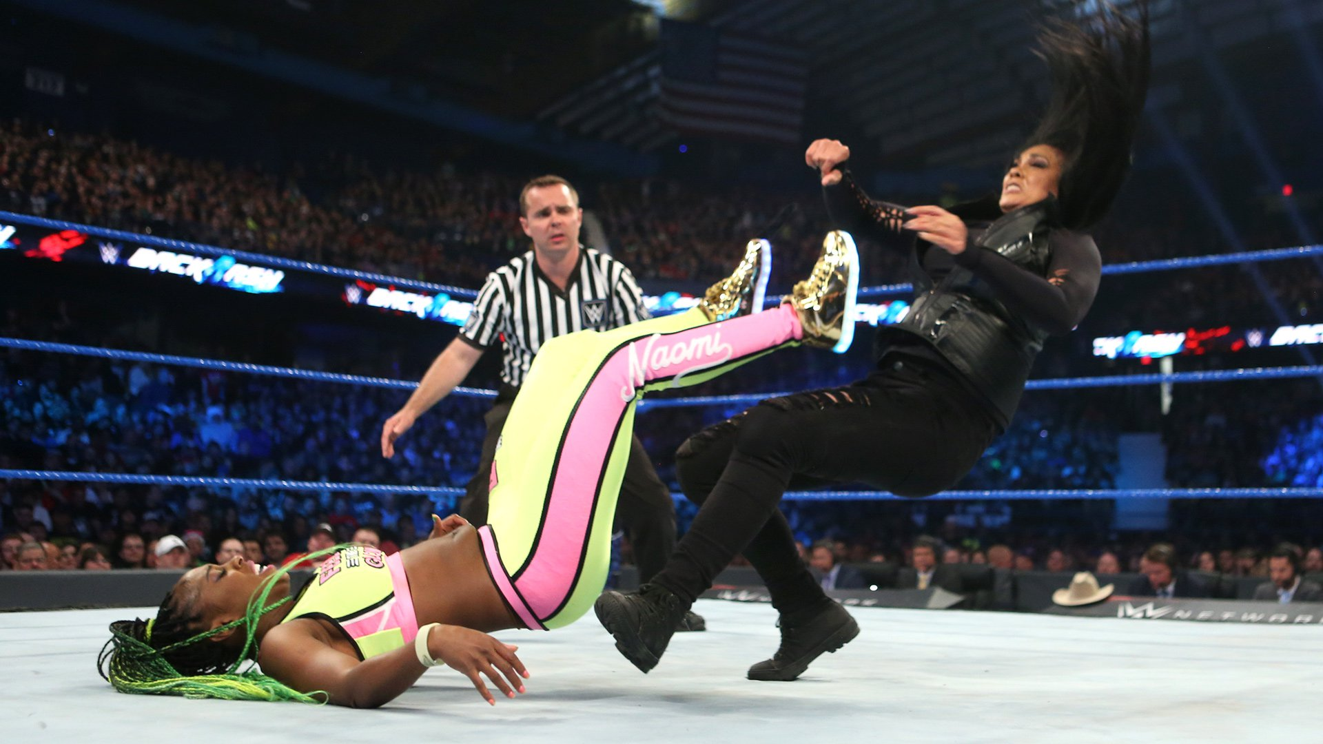 Naomi takes down Tamina with authority.
