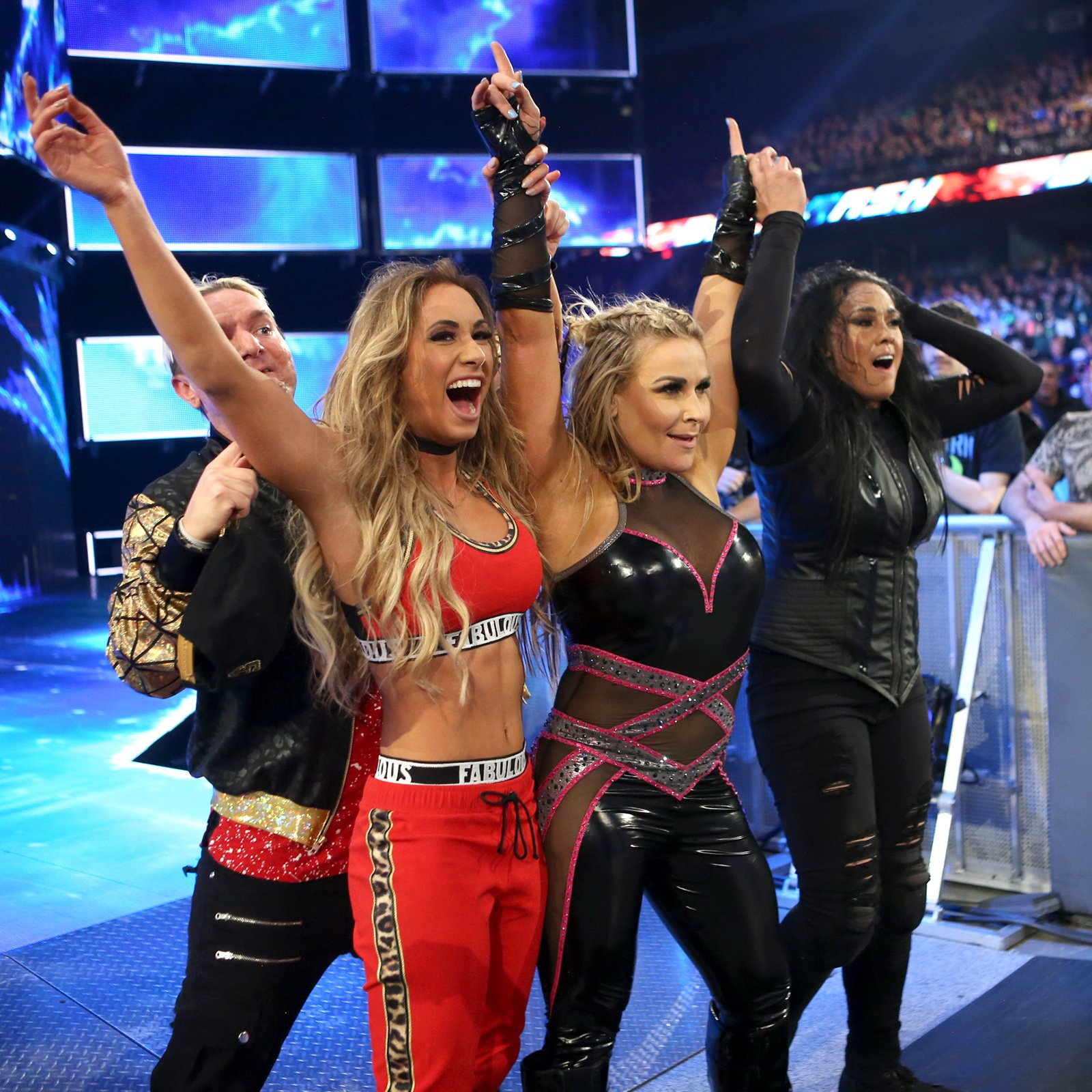 A focused attack on Becky Lynch ultimately works in Carmella, Natalya & Tamina's favor.