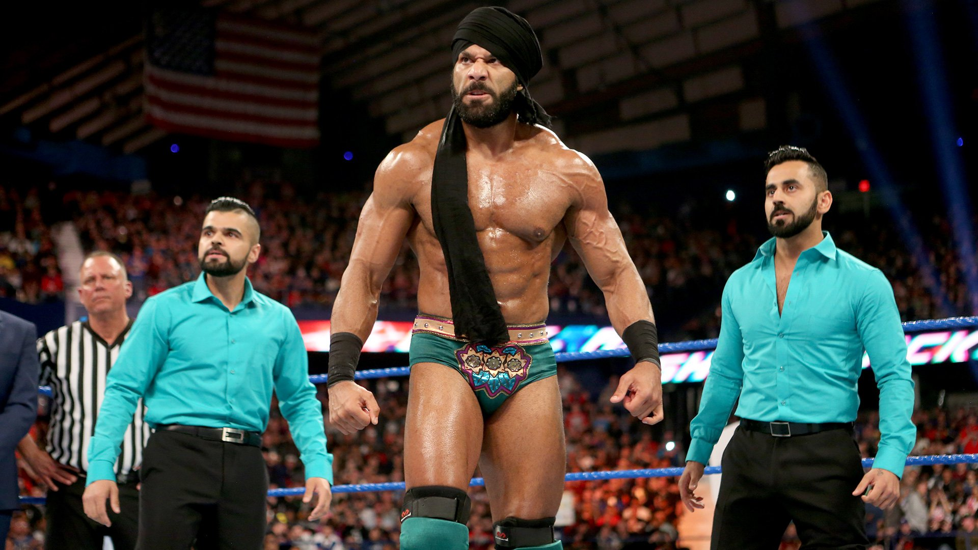 With The Singh Brothers as his side, Jinder Mahal awaits his challenge at WWE Backlash.