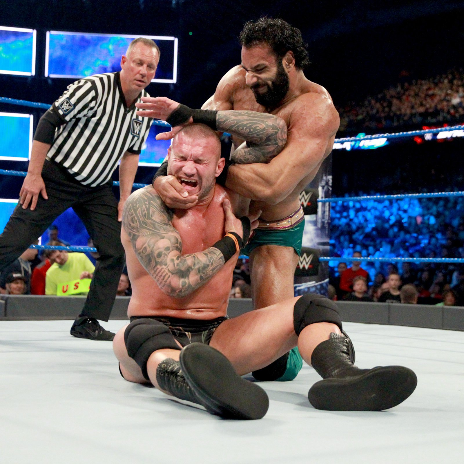 """The Modern Day Maharaja"" takes control of the contest by targeting Orton's shoulder."