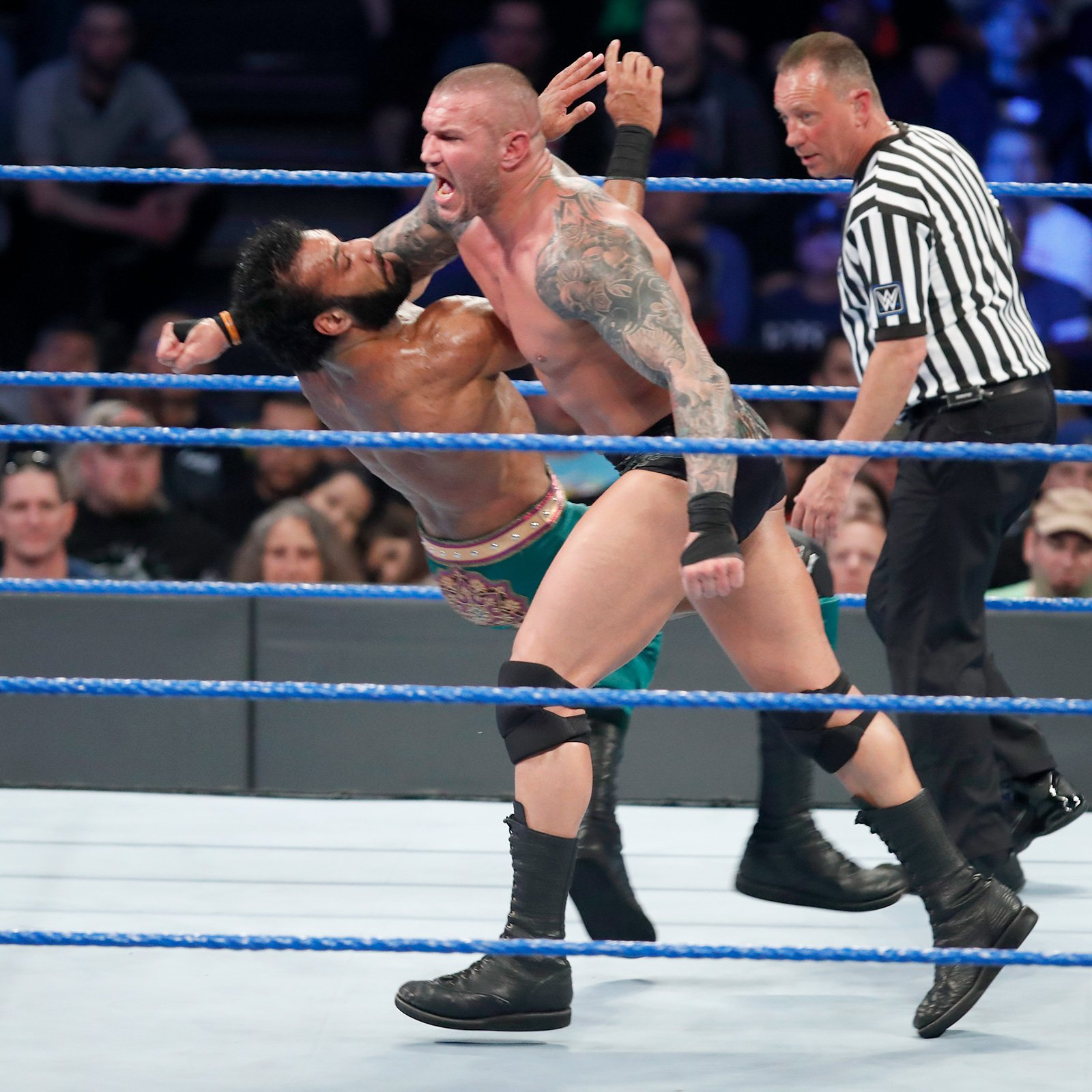 WWE's Apex Predator gets fired up and takes down his challenger.