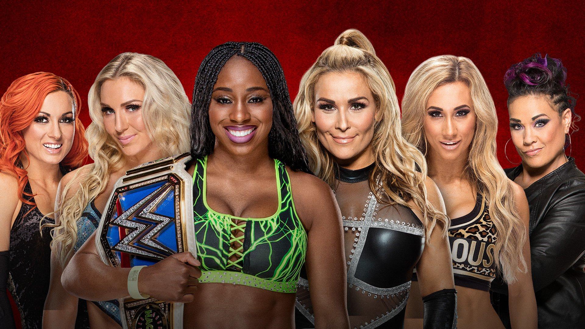 WWE Backlash: Naomi, Charlotte Flair e Becky Lynch vs. Tamina Snuka, Carmella e Natalya
