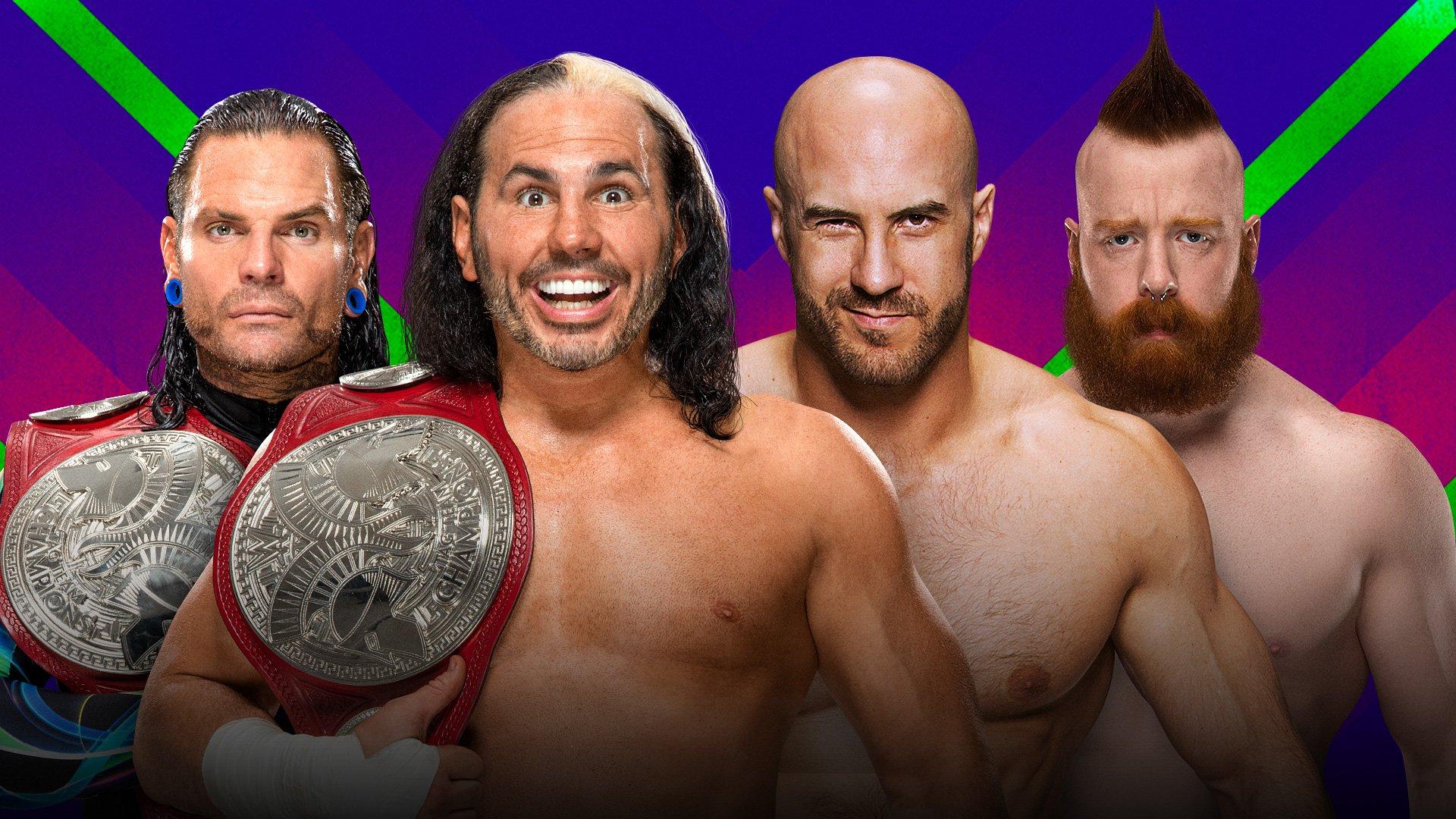 WWE Extreme Rules 2017: Hardy Boyz vs. Cesaro & Sheamus