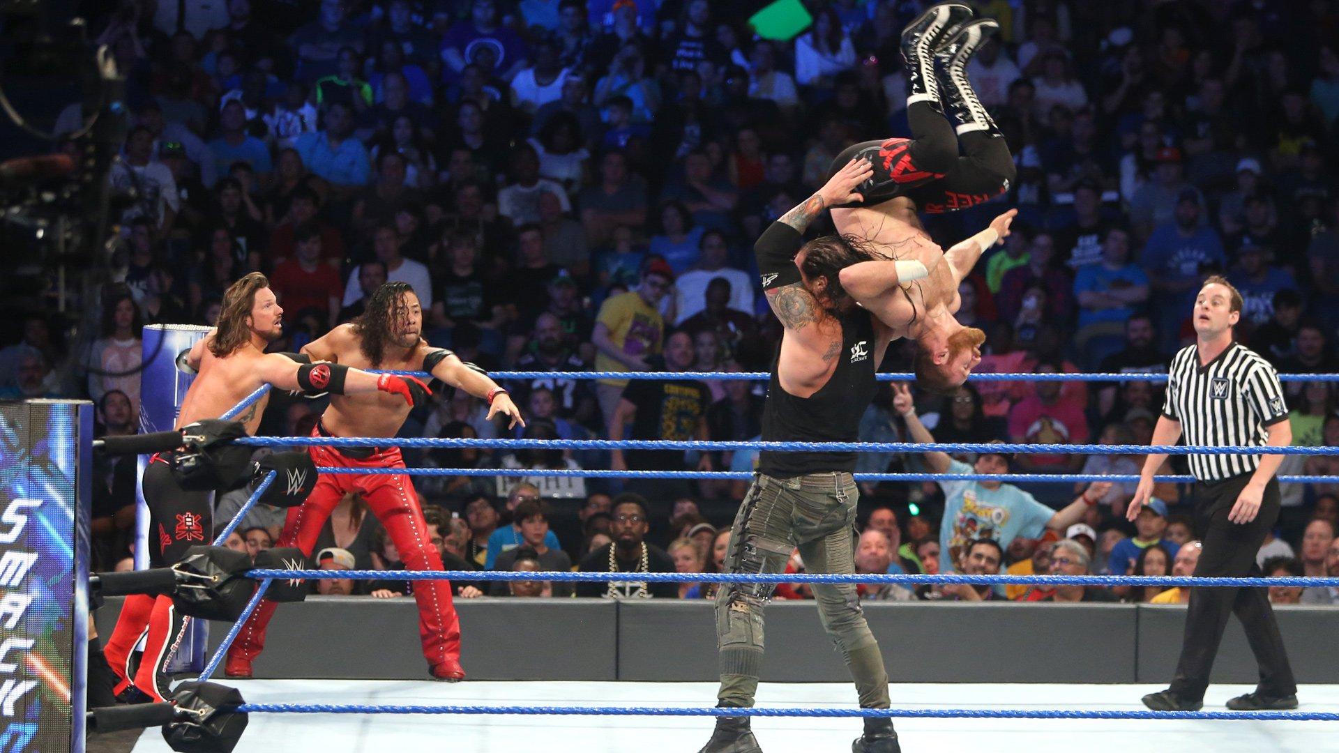 AJ Styles, Shinsuke Nakamura & Sami Zayn vs. Kevin Owens, Baron Corbin & Dolph Ziggler: photos