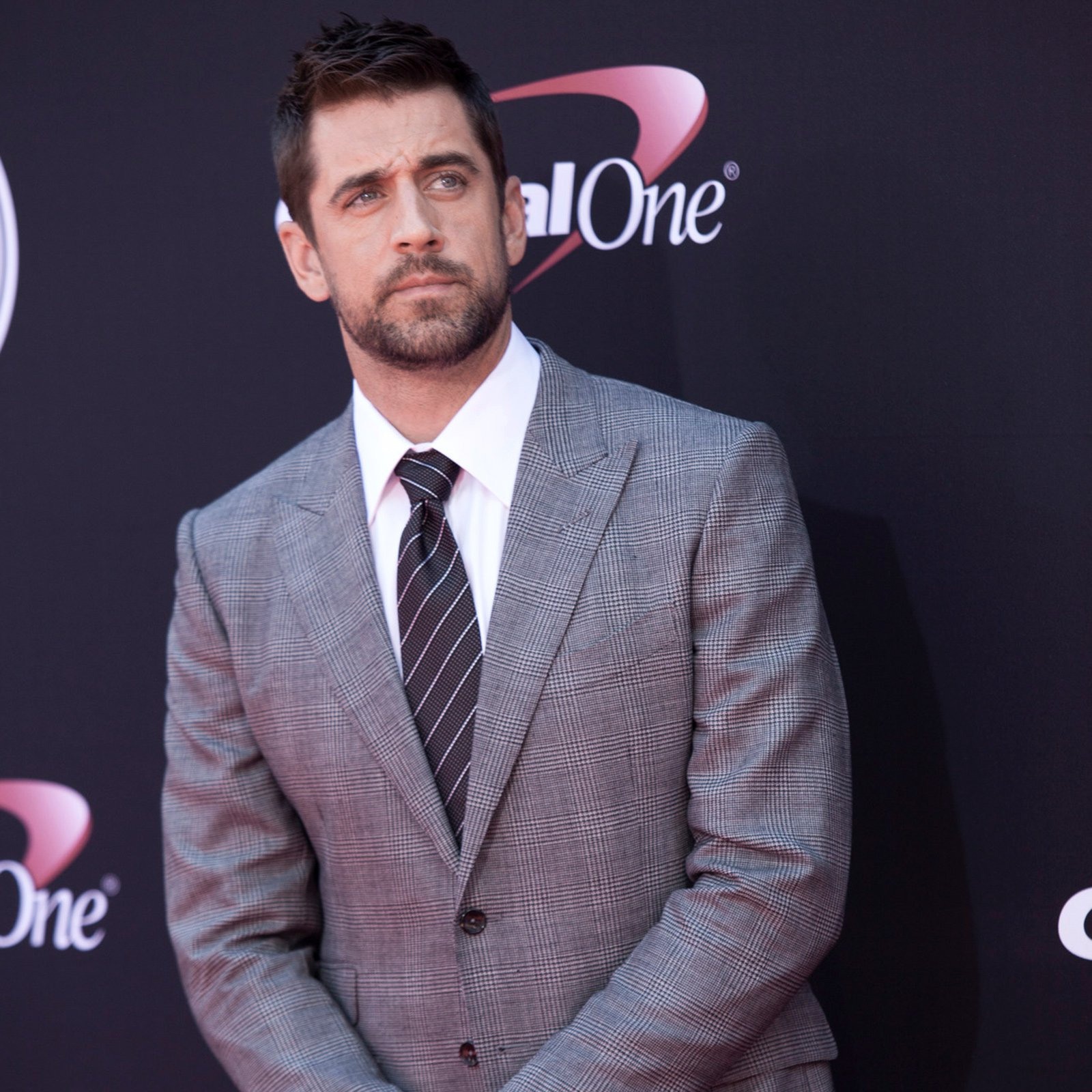 Green Bay Packers quarterback Aaron Rodgers, ESPY winner for Best Play and Best NFL Player.