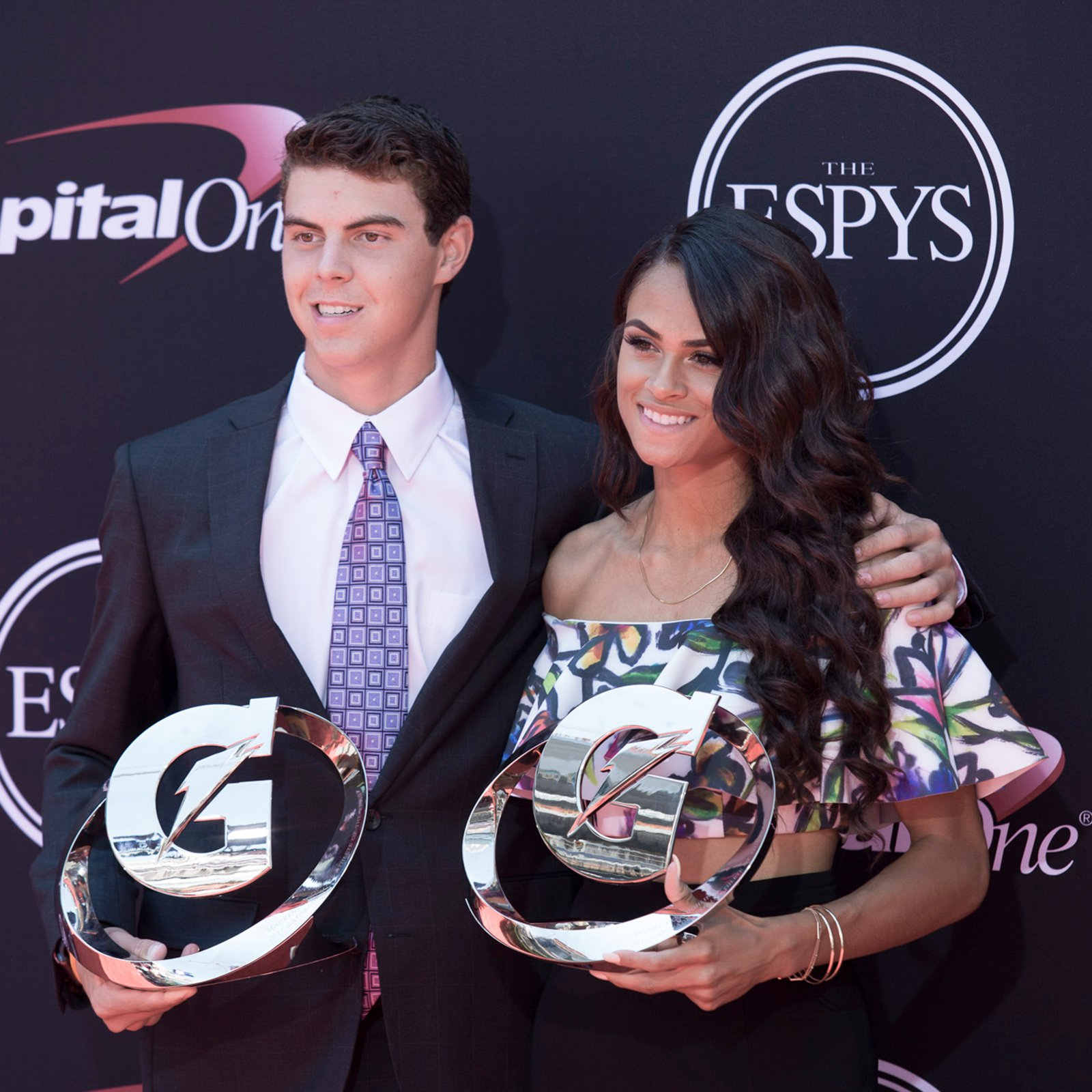 High school athletes MacKenzie Gore and Sydney McLaughlin -- this year's Gatorade Athletes of the Year.